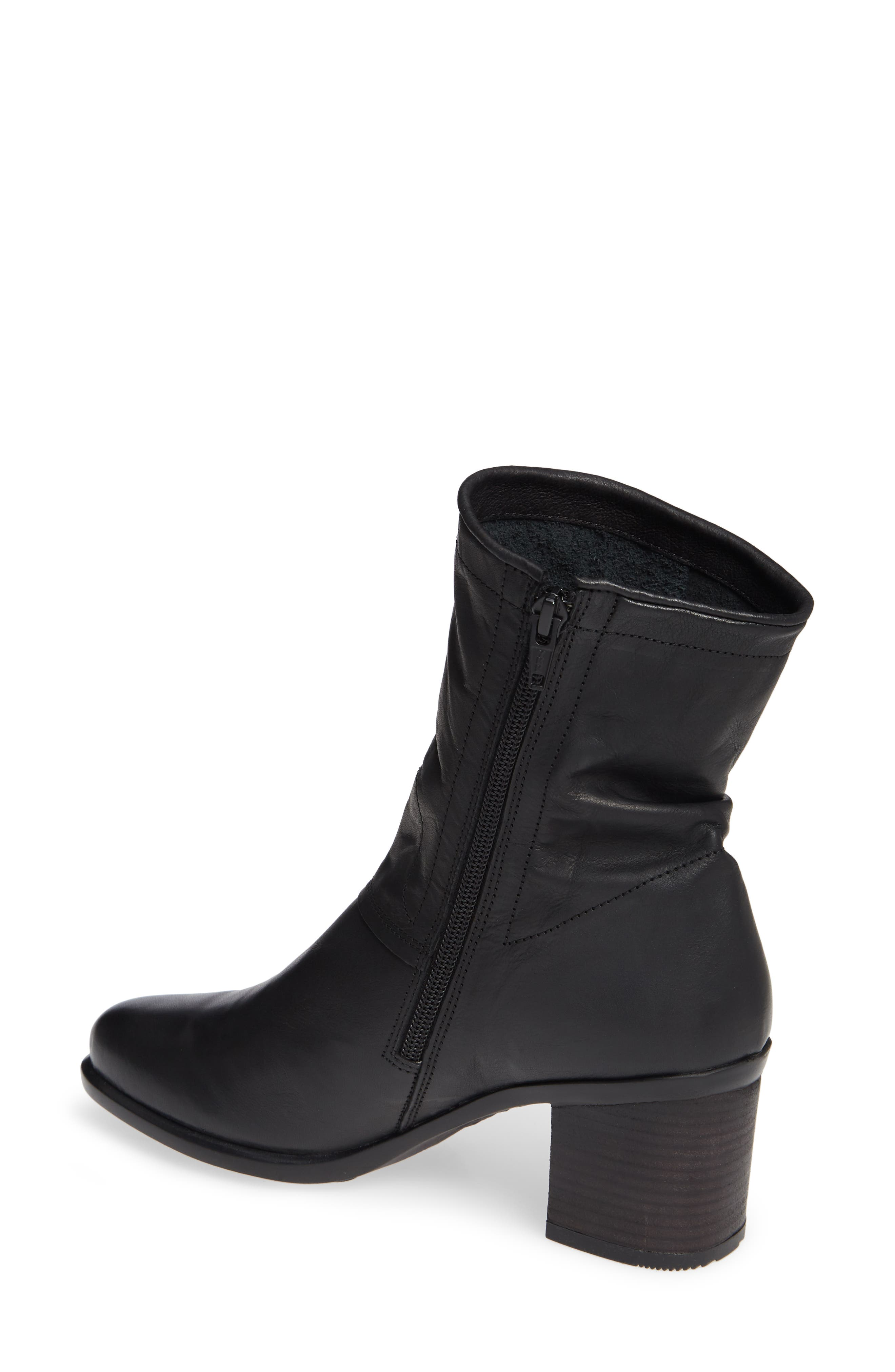 Ital Slightly Slouchy Bootie,                             Alternate thumbnail 2, color,                             BLACK