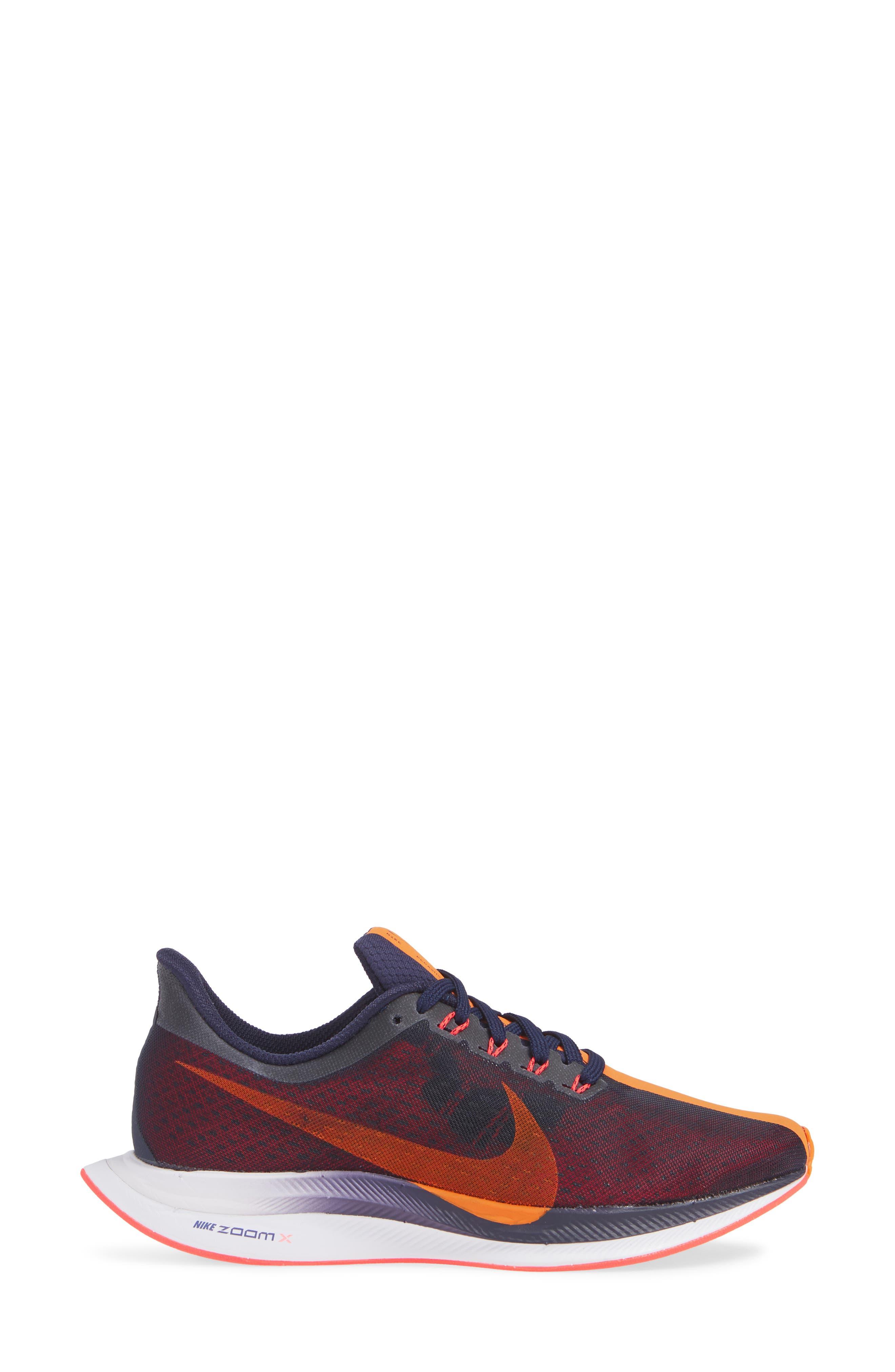 Zoom Pegasus 35 Turbo Running Shoe,                             Alternate thumbnail 3, color,                             BLACKENED BLUE/ CRIMSON/ BLACK