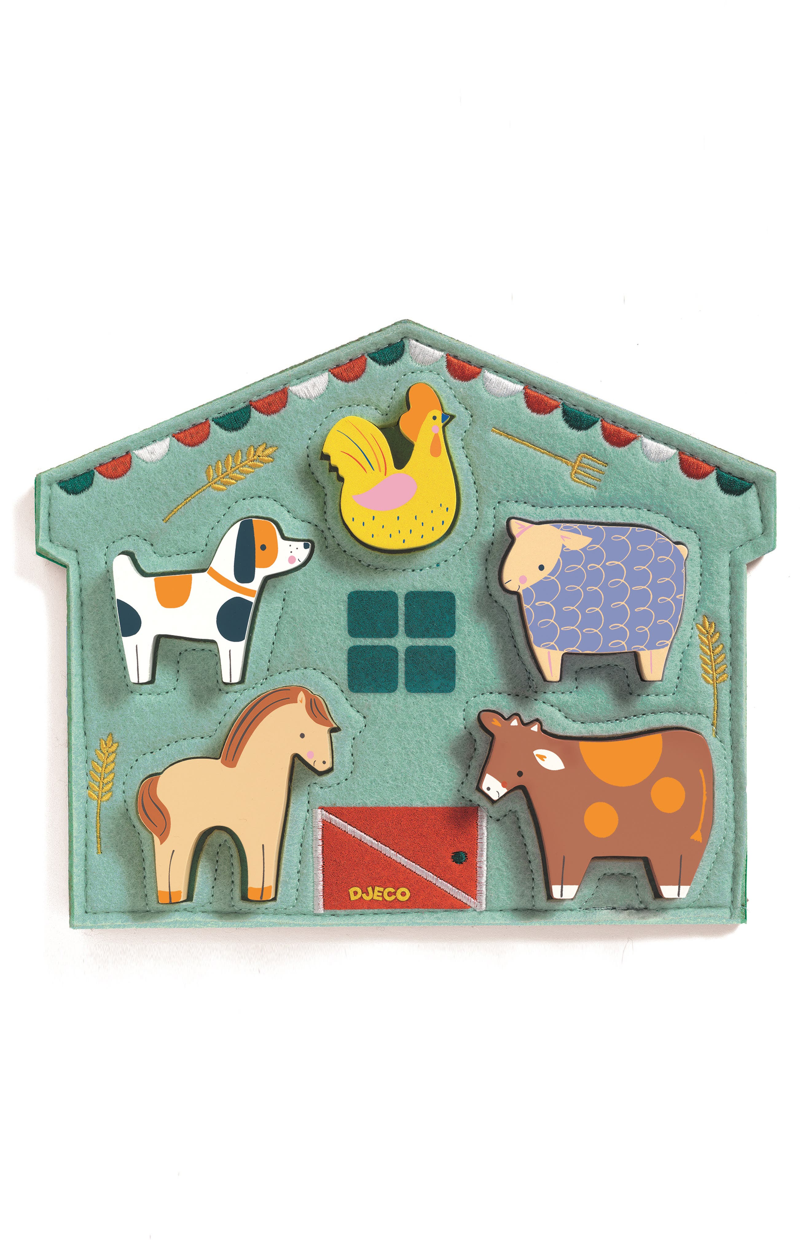 Relief Wooden Animal Puzzle,                             Main thumbnail 1, color,                             VARIOUS