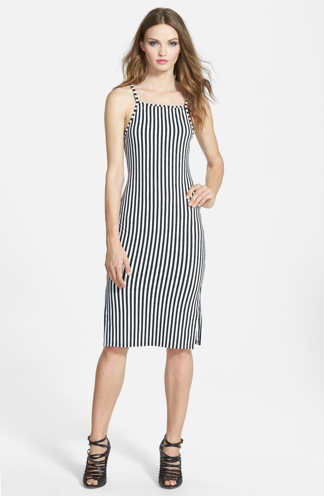'Stealing Harvard' Midi Dress,                         Main,                         color, 001