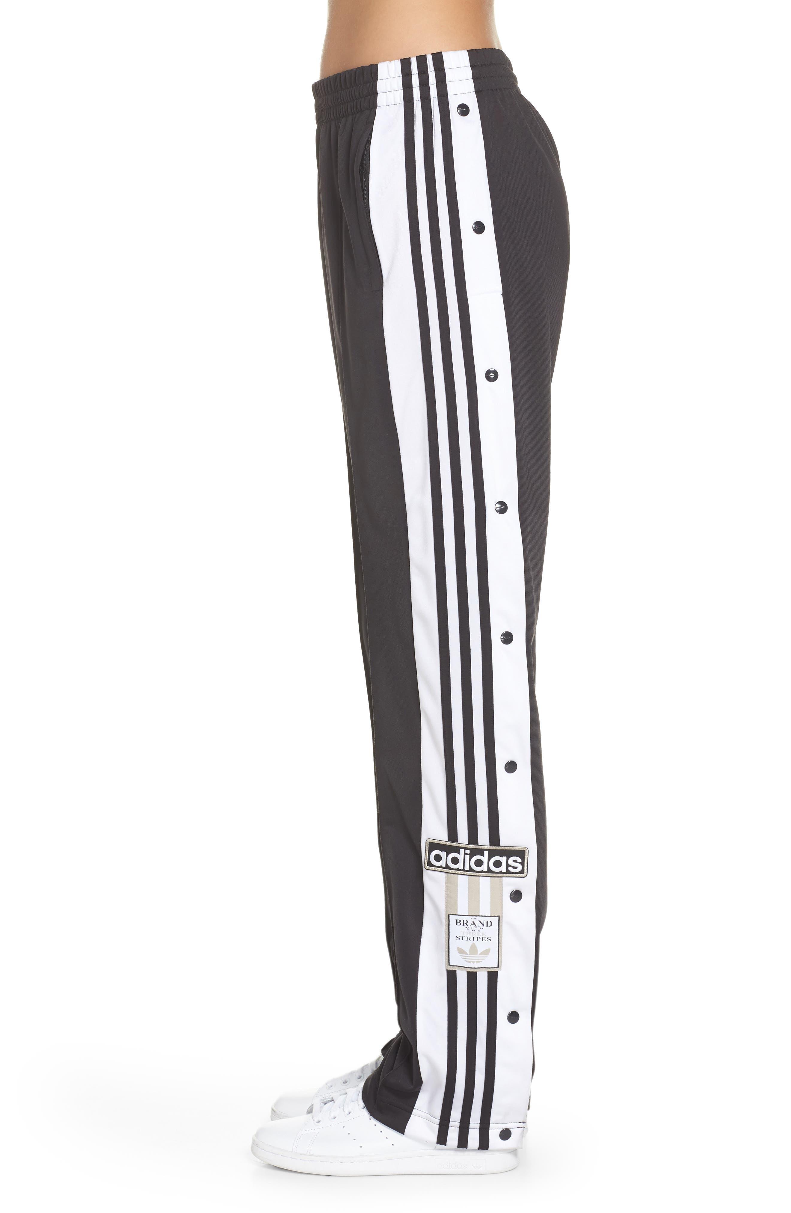 Adibreak Tearaway Track Pants,                             Alternate thumbnail 3, color,                             BLACK/ CARBON
