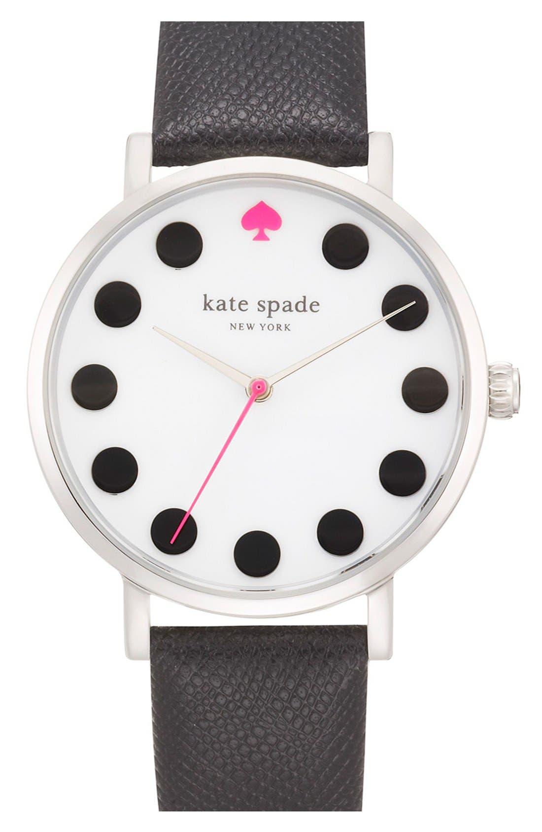 'metro' boxed dot dial watch & straps set, 34mm,                             Main thumbnail 1, color,                             100