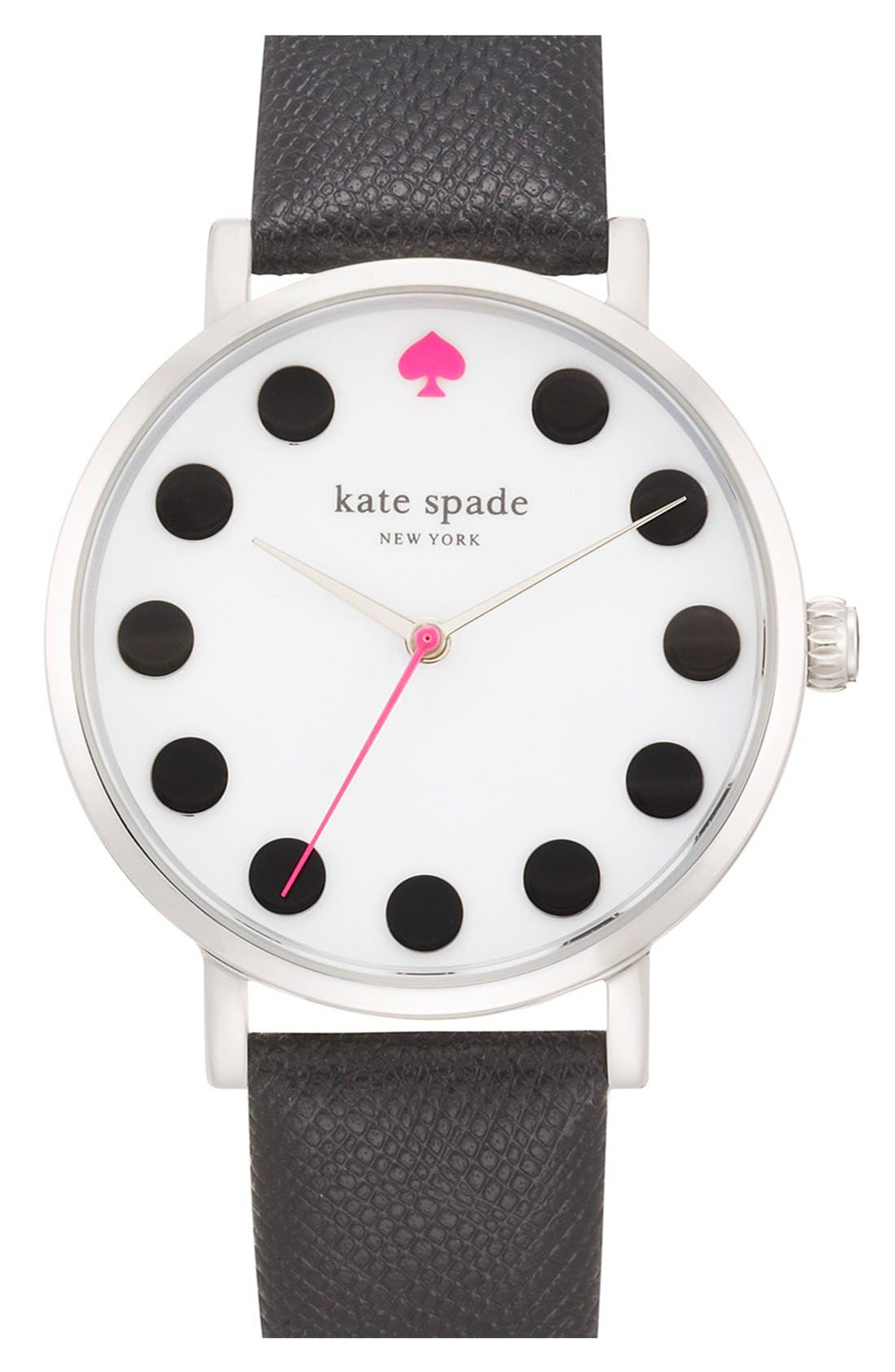 'metro' boxed dot dial watch & straps set, 34mm,                         Main,                         color, 100