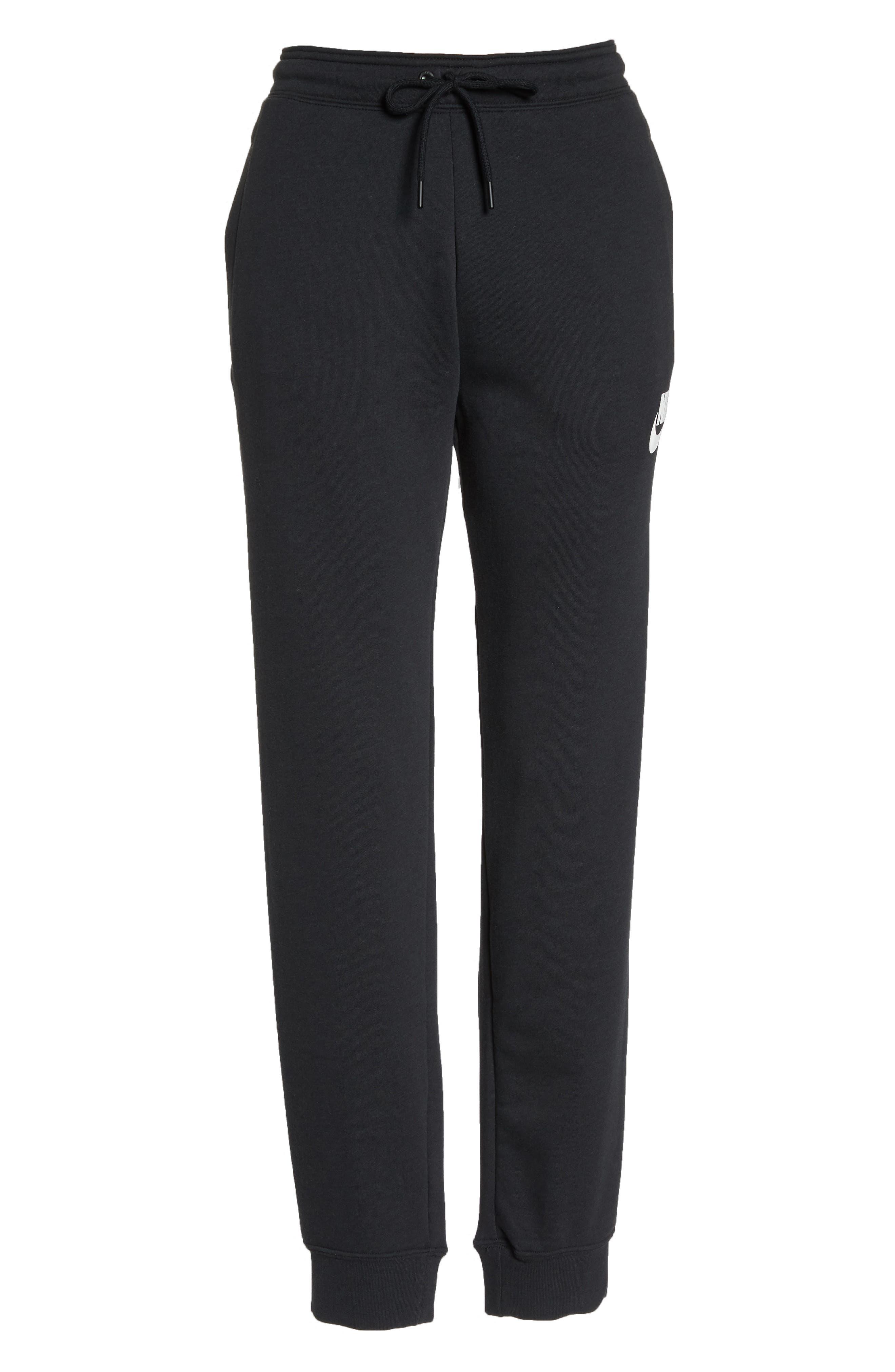 Sportswear Rally Jogger Pants,                             Alternate thumbnail 7, color,                             BLACK/ BLACK/ WHITE