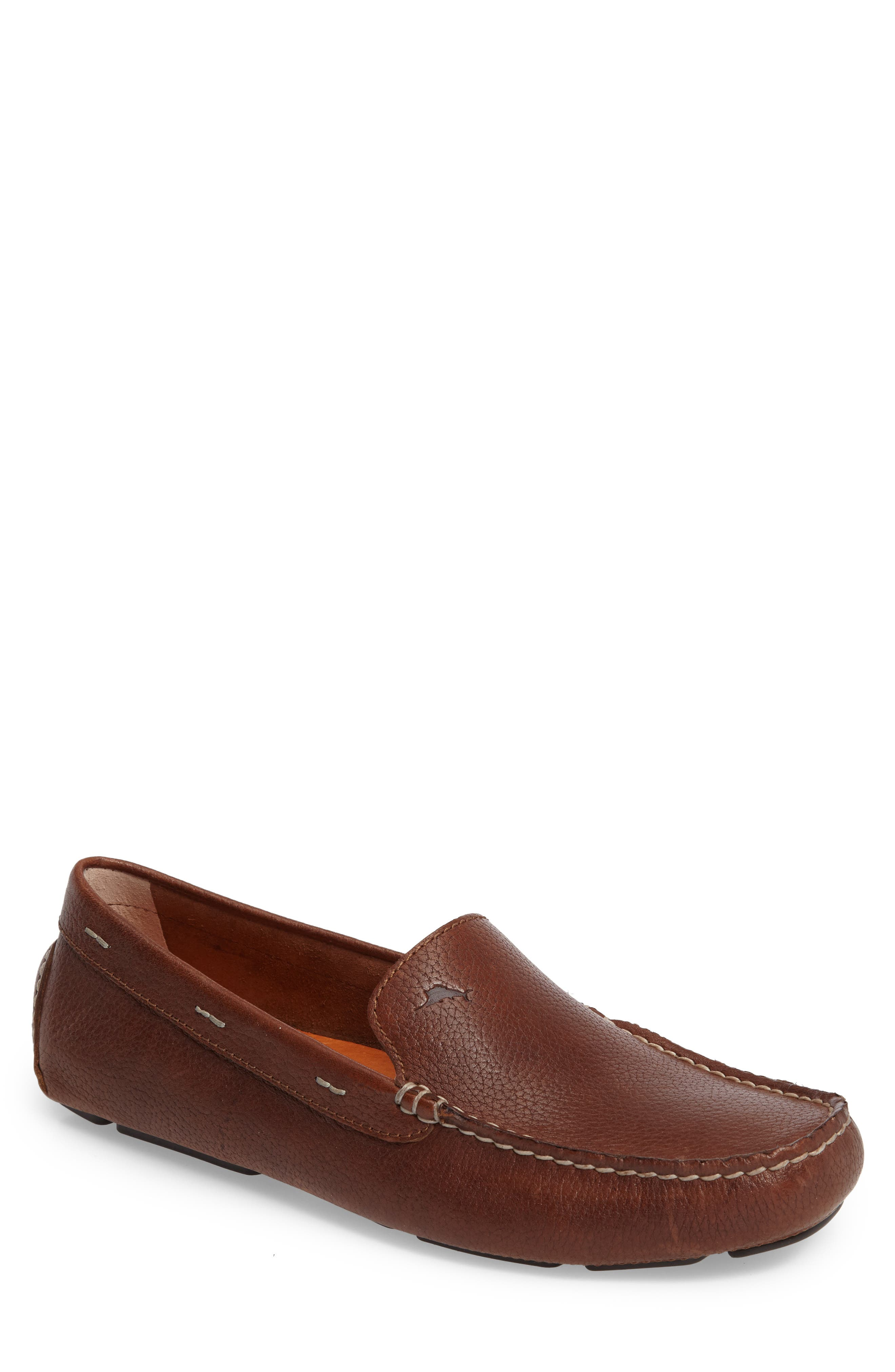 Pagota Driving Loafer,                             Main thumbnail 1, color,                             DARK BROWN LEATHER