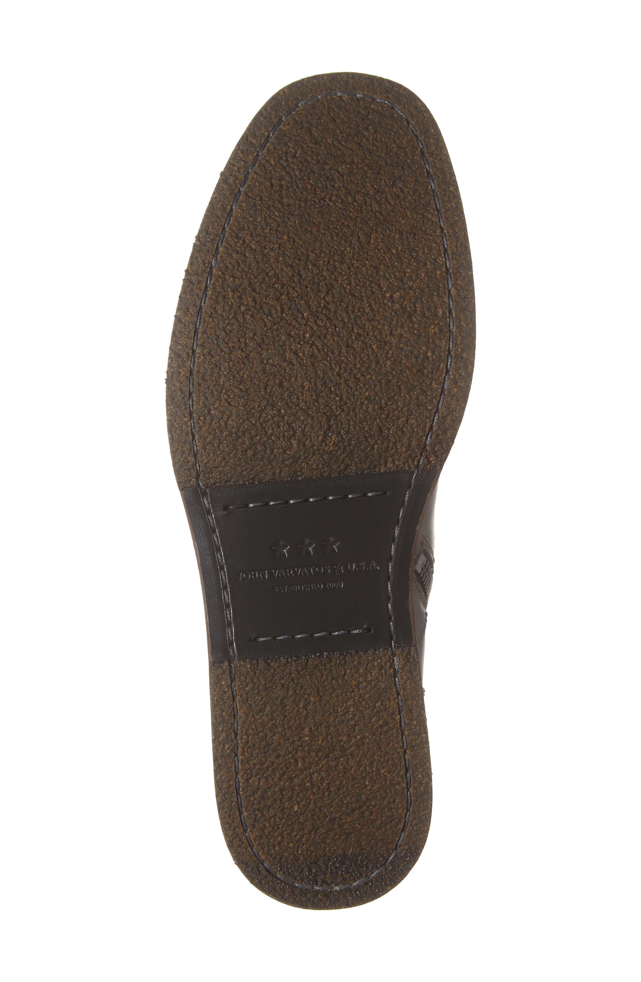 Brooklyn Plain Toe Boot,                             Alternate thumbnail 6, color,                             BLACK LEATHER
