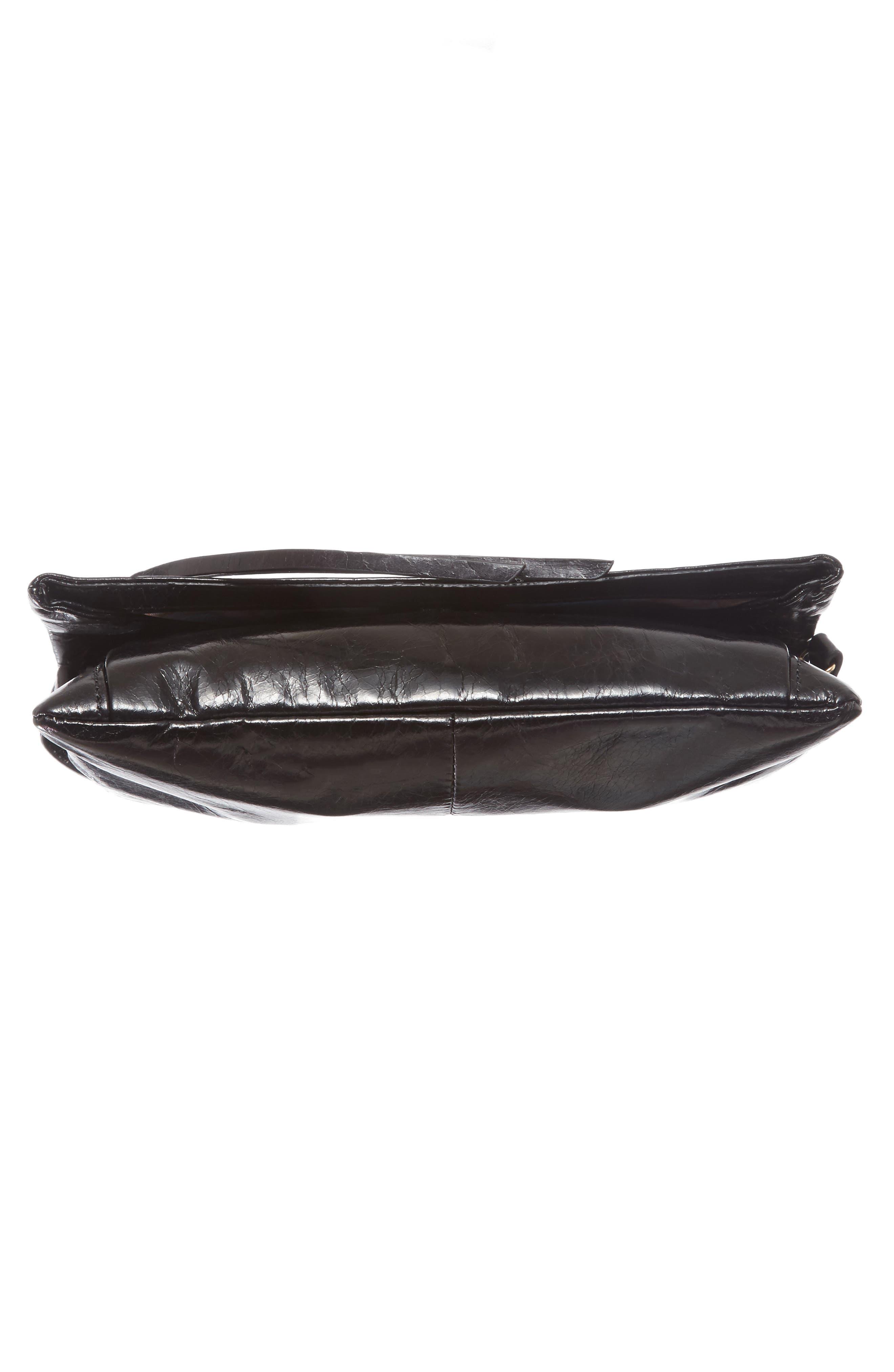 Rudy Leather Crossbody Bag,                             Alternate thumbnail 6, color,                             001