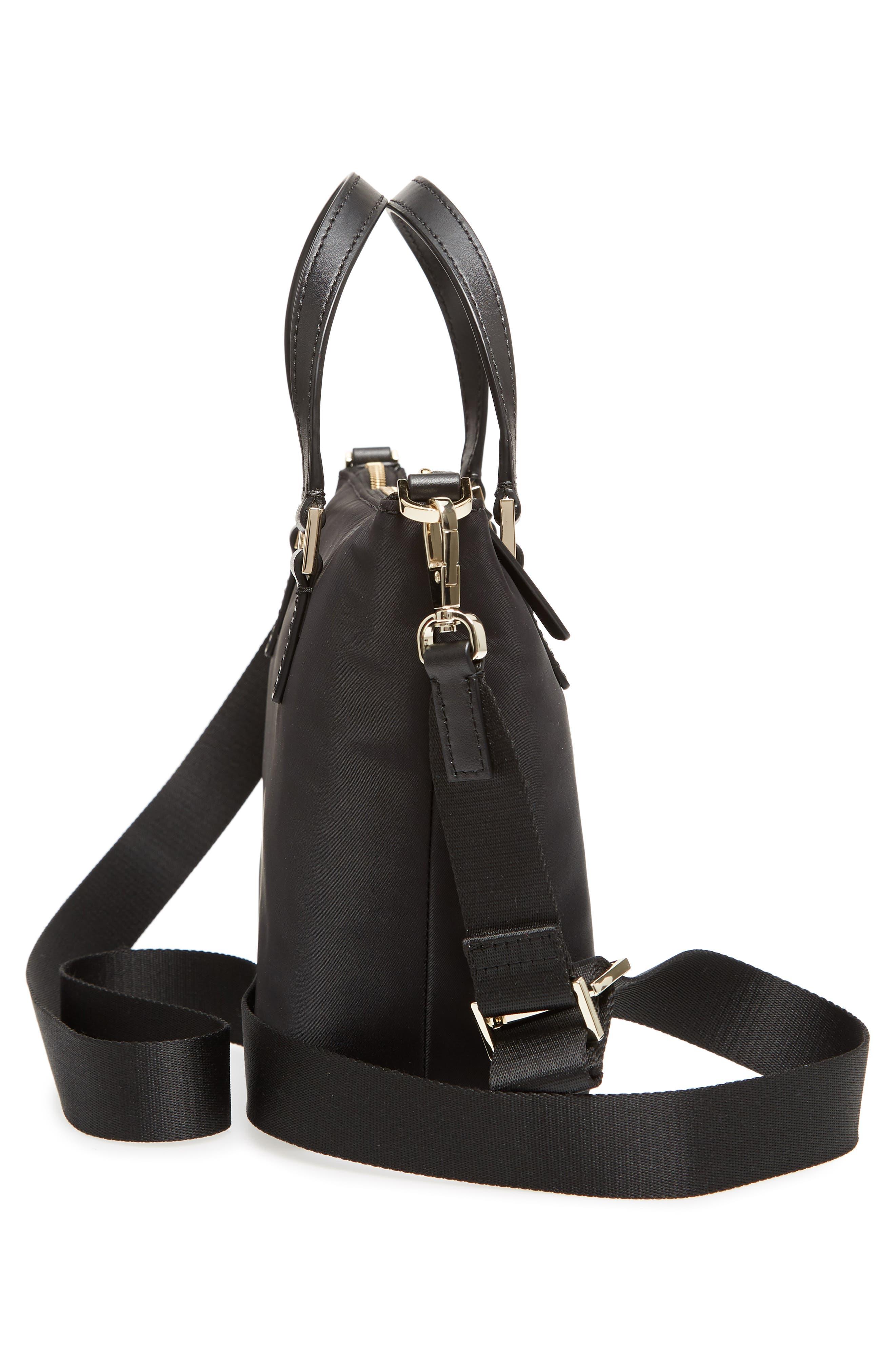 watson lane - lucie nylon crossbody bag,                             Alternate thumbnail 5, color,                             BLACK