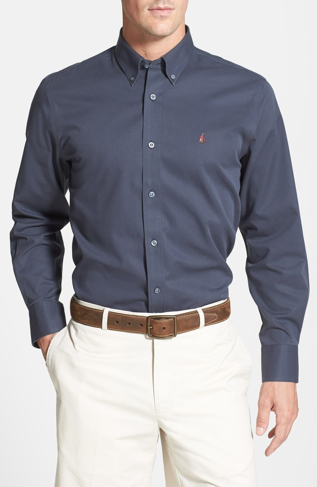 Smartcare<sup>™</sup> Traditional Fit Twill Boat Shirt,                         Main,                         color,