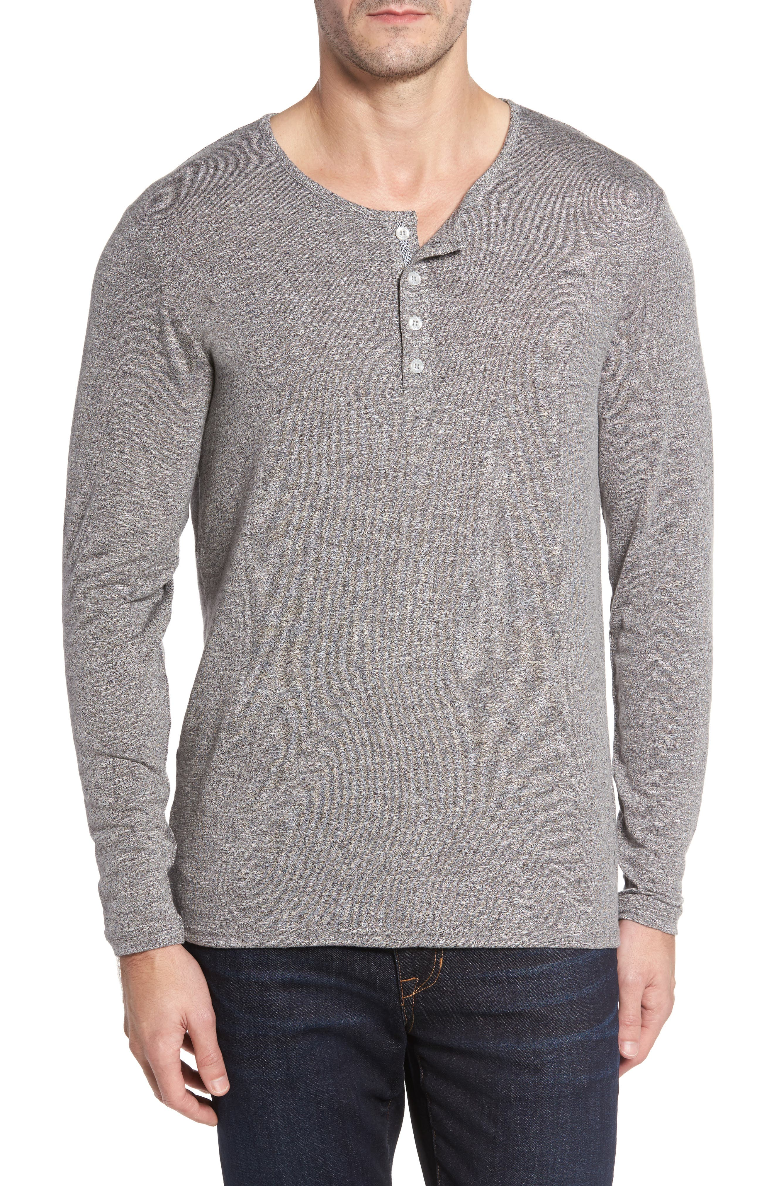 Light Flame Henley,                             Main thumbnail 1, color,                             GREY