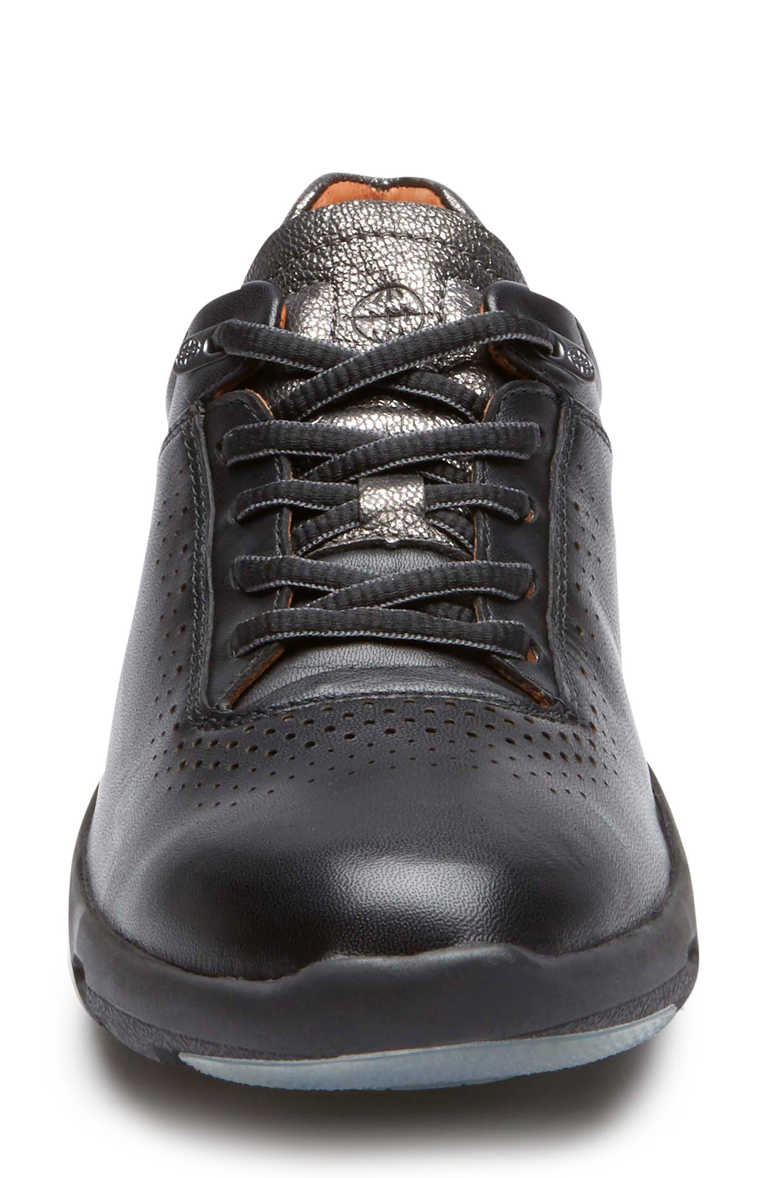 ROCKPORT,                             Let's Walk<sup>®</sup> Ubal Sneaker,                             Alternate thumbnail 4, color,                             BLACK/ BLACK LEATHER