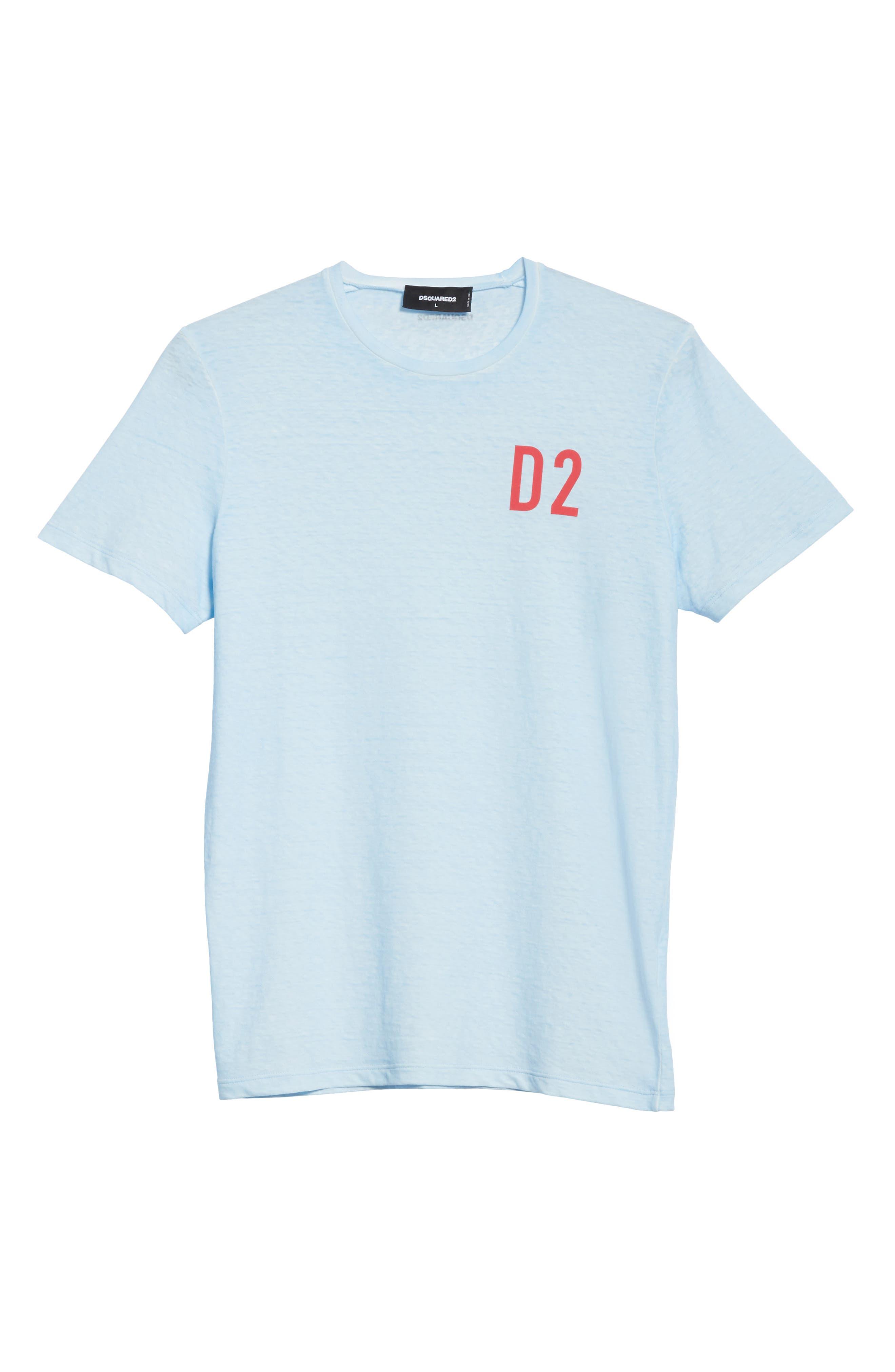 D2 Logo Graphic T-Shirt,                             Alternate thumbnail 6, color,                             450