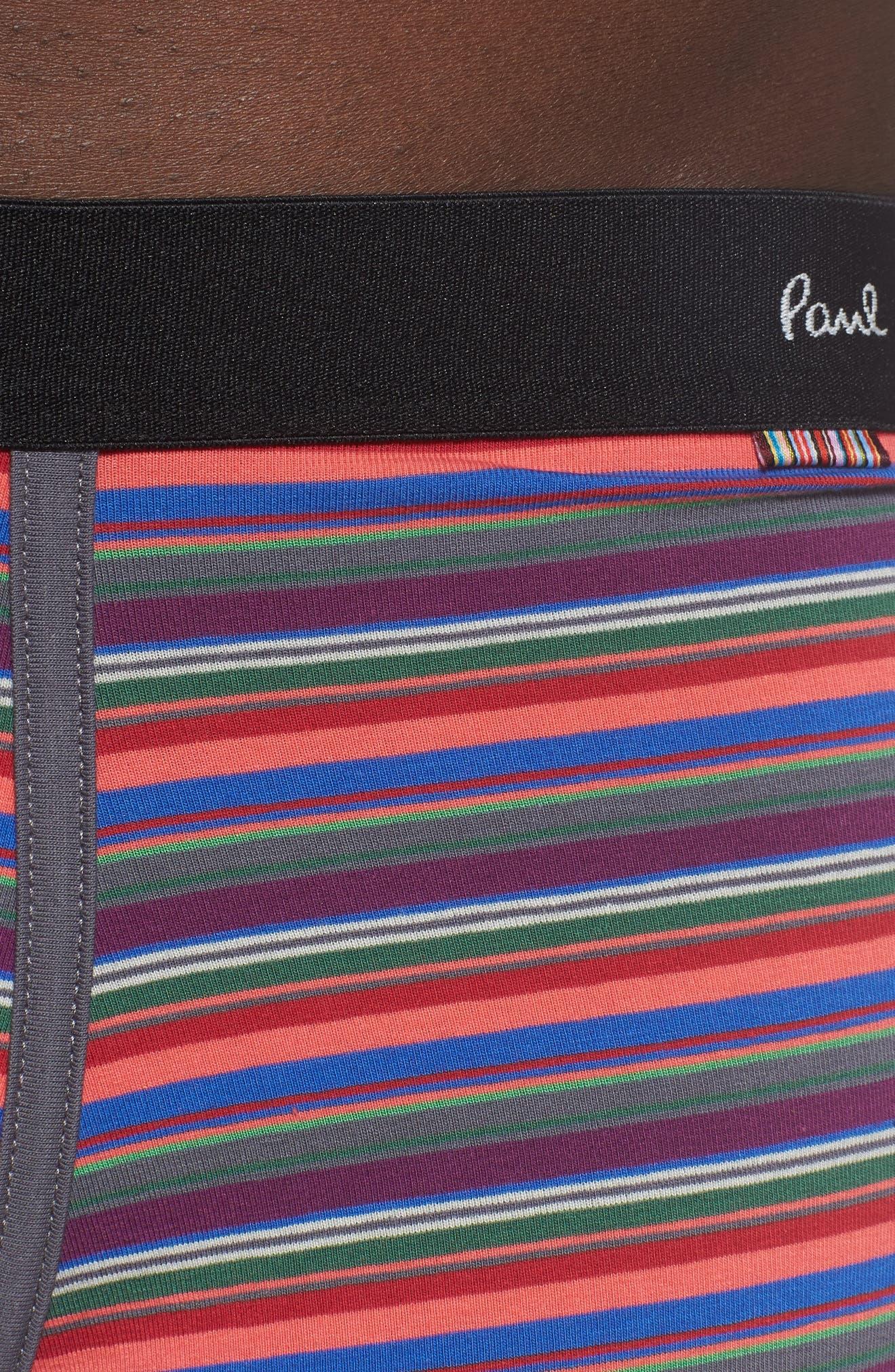 Long Leg Stretch Cotton Boxer Briefs,                             Alternate thumbnail 4, color,                             RED