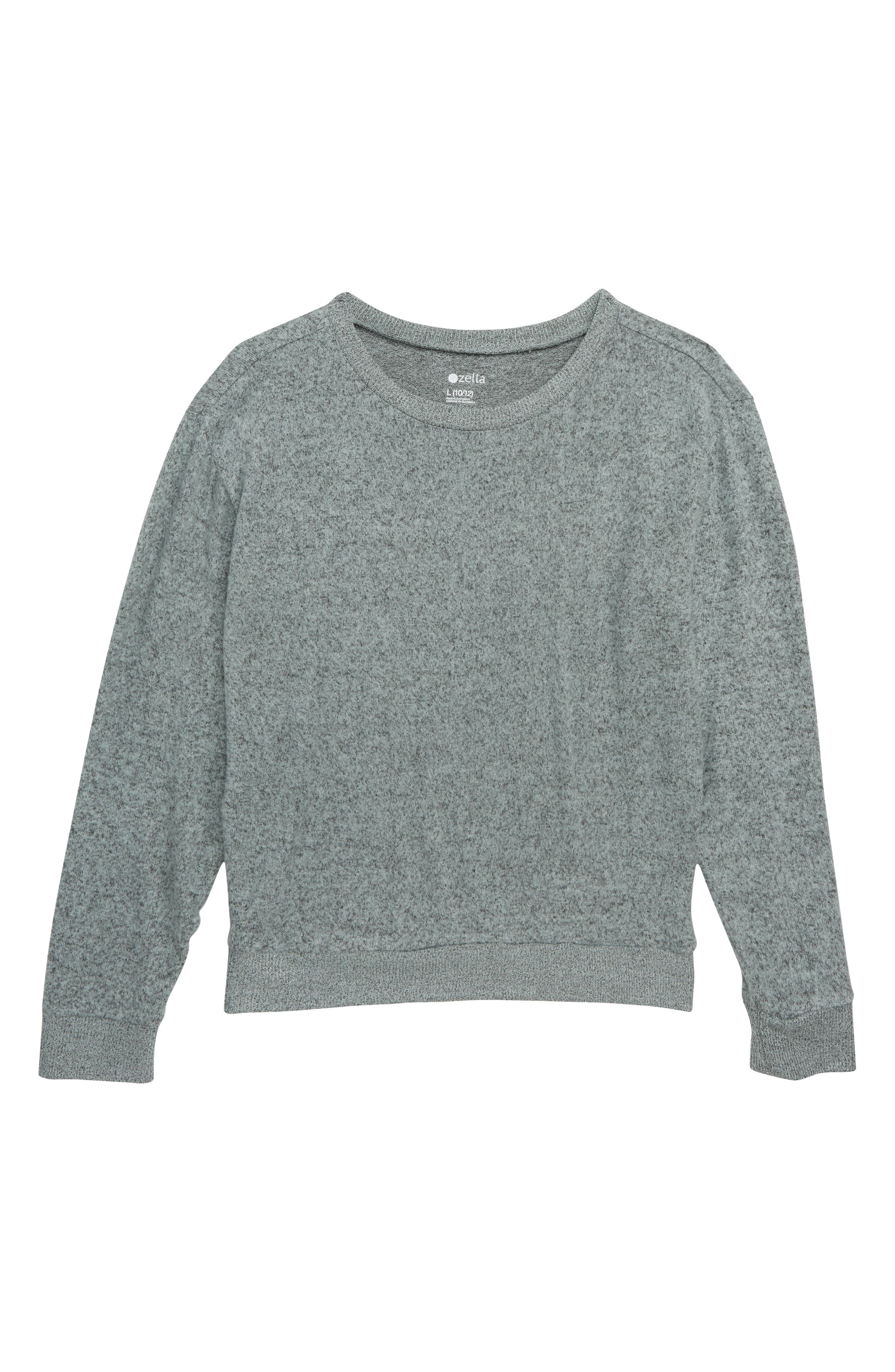 Supersoft Sweater,                         Main,                         color, BLACK MINT HEATHER