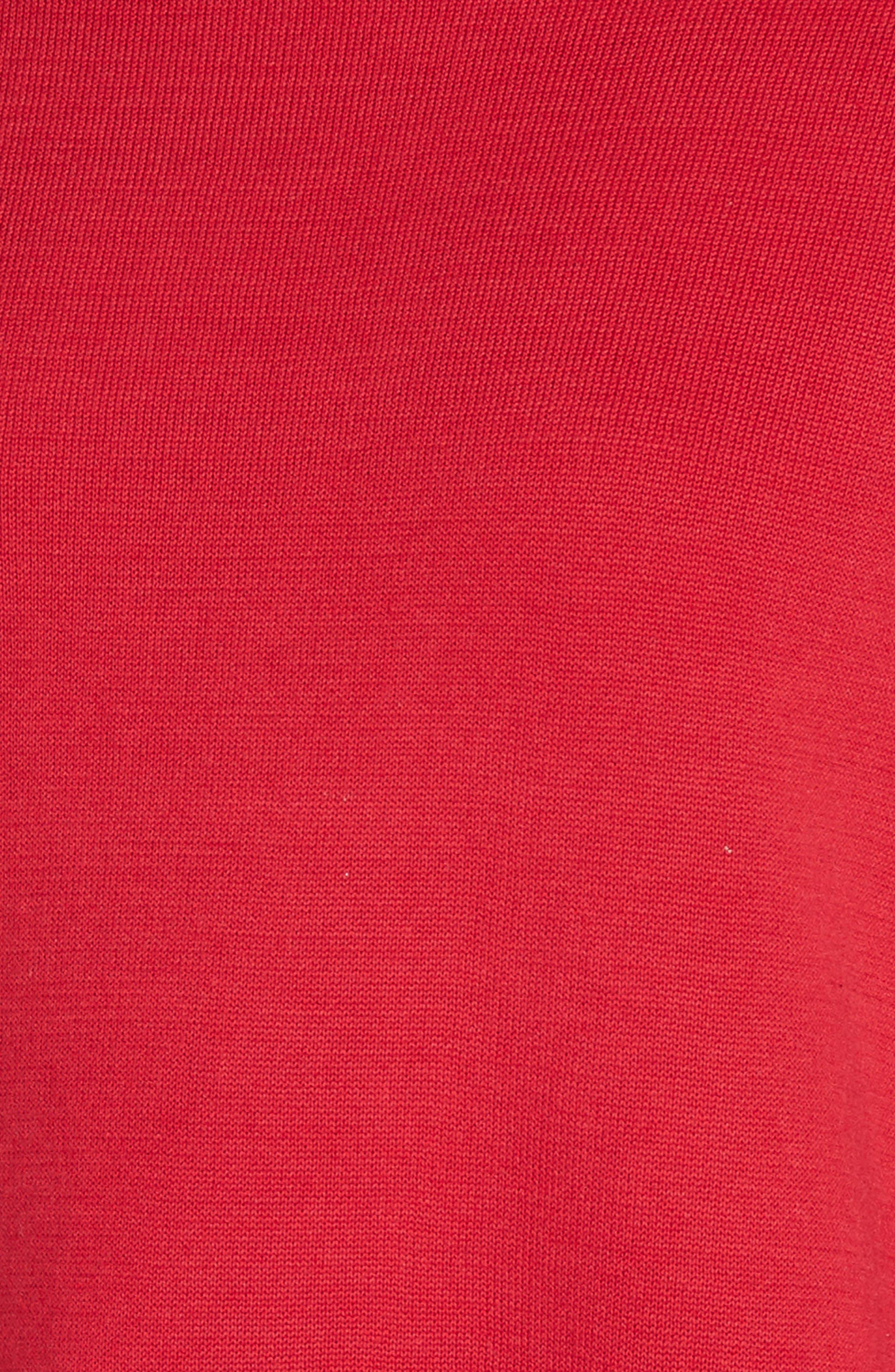 EILEEN FISHER, Reversilble Silk Blend Sweater, Alternate thumbnail 6, color, LACQUER