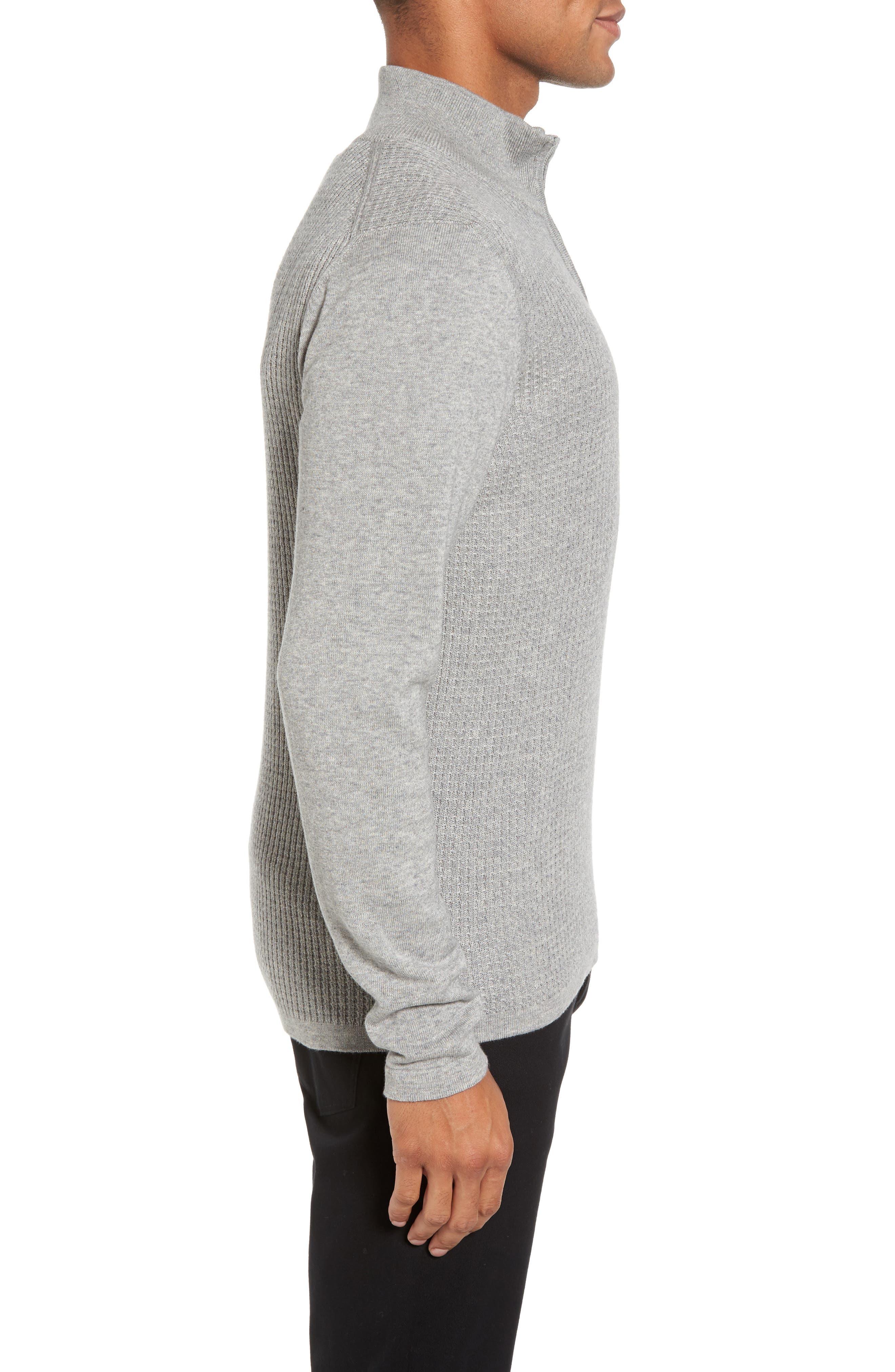Higgins Quarter Zip Sweater,                             Alternate thumbnail 3, color,                             050