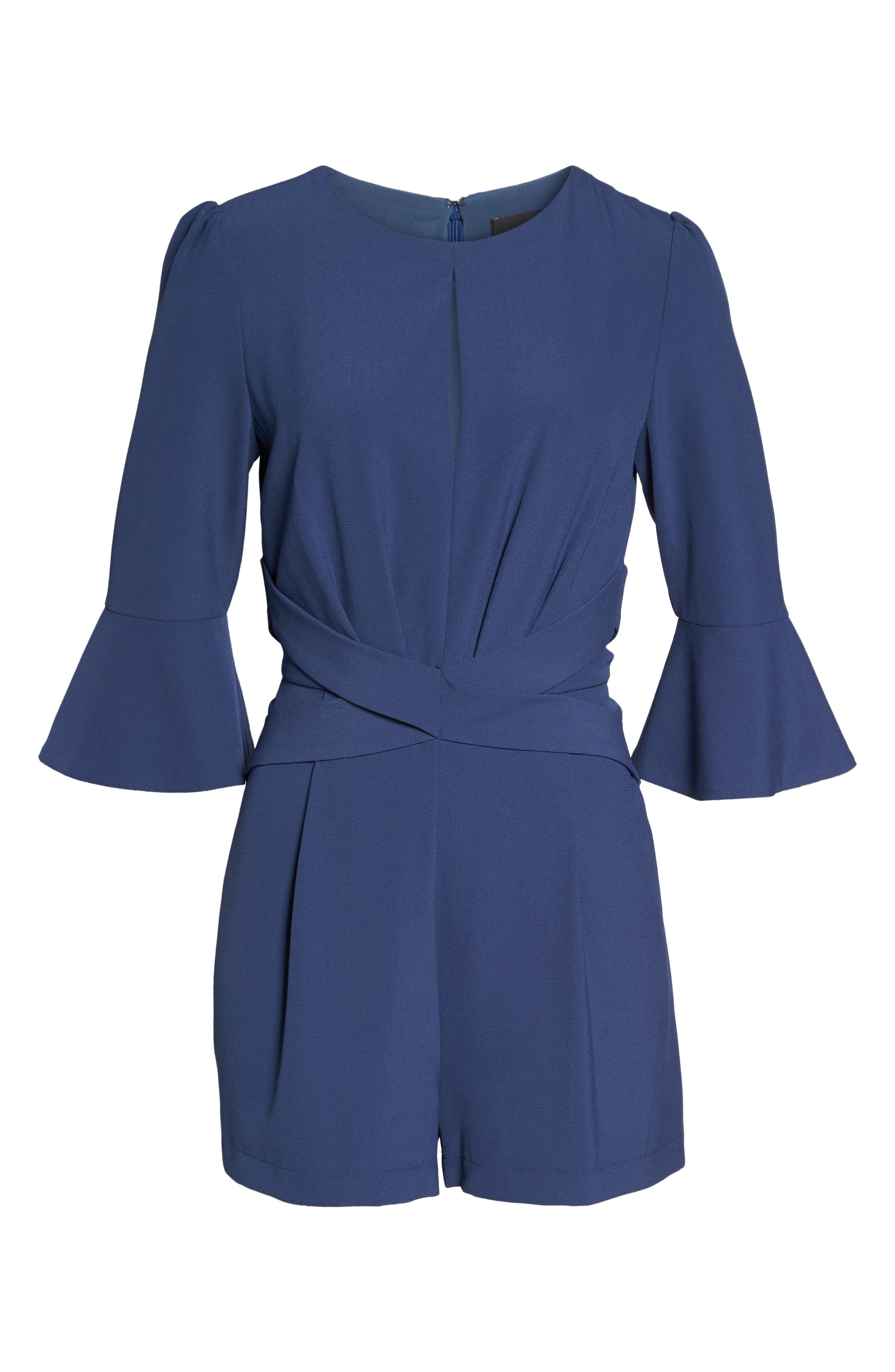 Meredith Bell Cuff Romper,                             Alternate thumbnail 6, color,