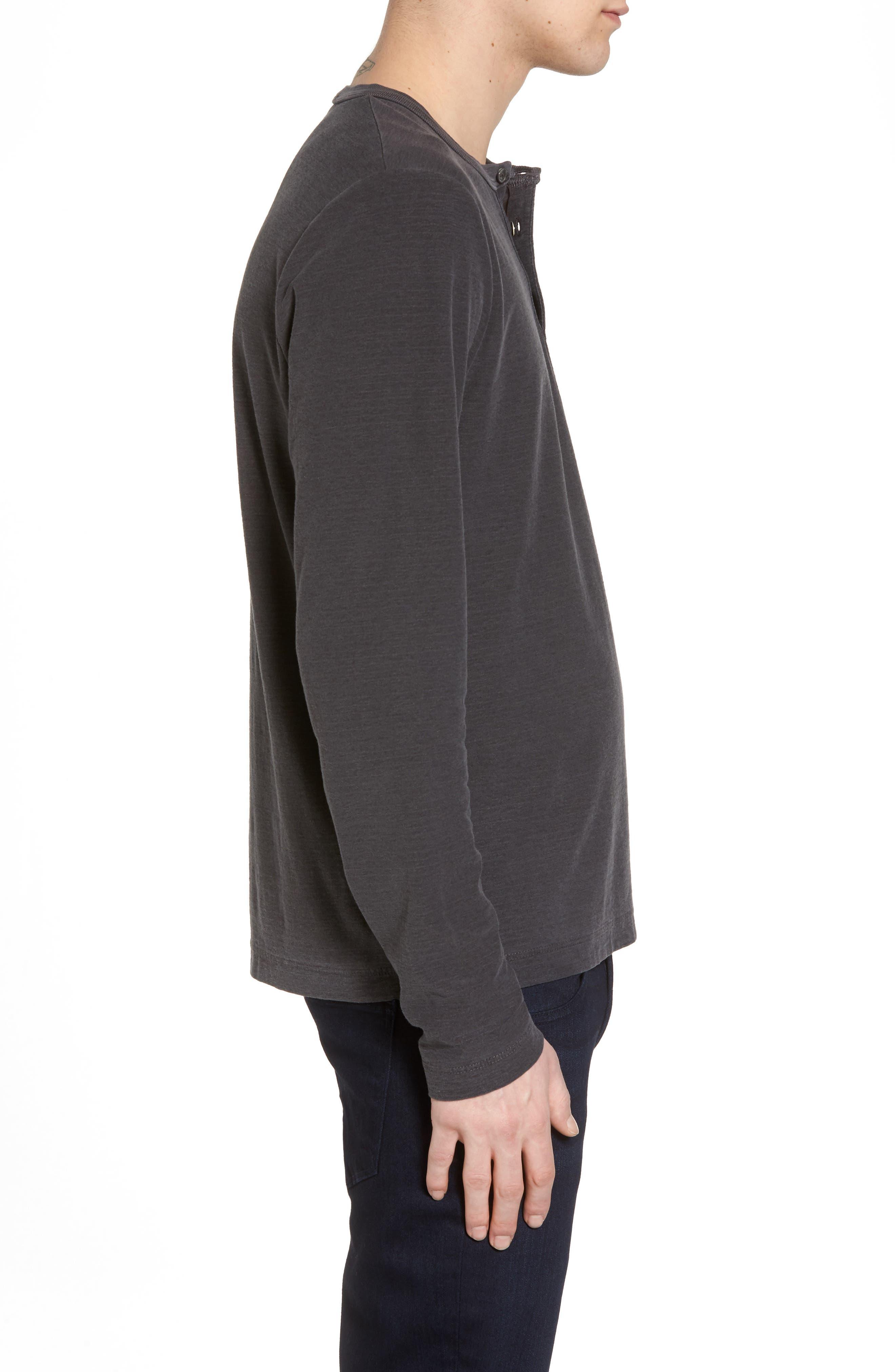 Regular Fit Micro Stripe Henley Shirt,                             Alternate thumbnail 3, color,                             020