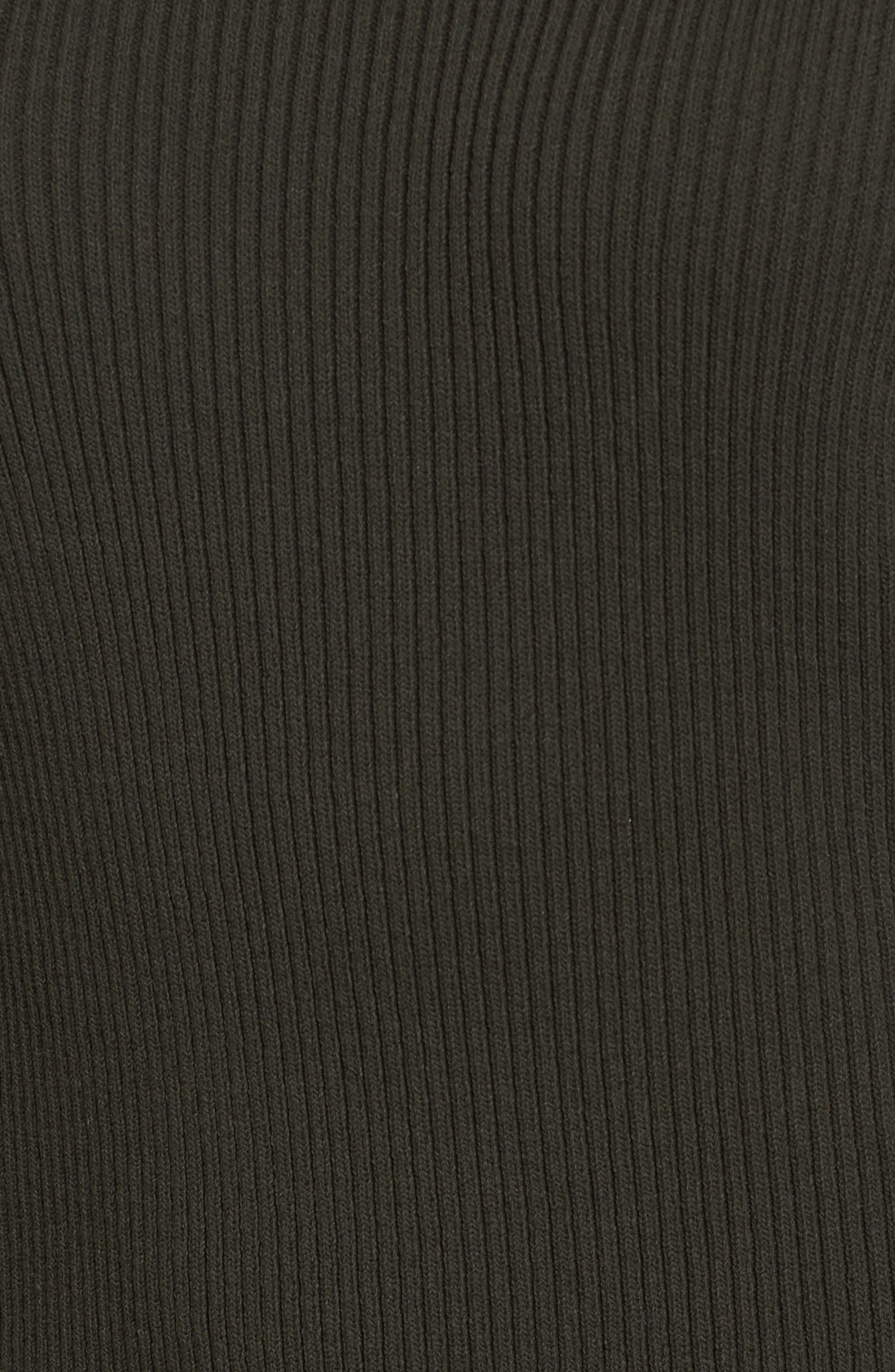Zip Shoulder Ribbed Sweater,                             Alternate thumbnail 10, color,