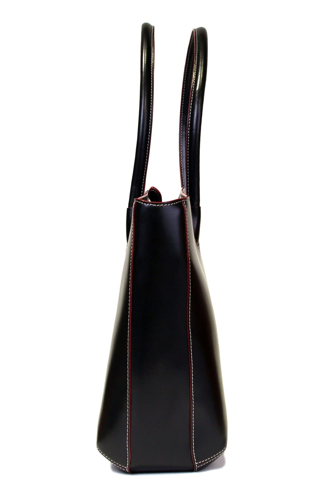 Lodis 'Audrey - Milano' Leather Computer Tote,                             Alternate thumbnail 6, color,                             001