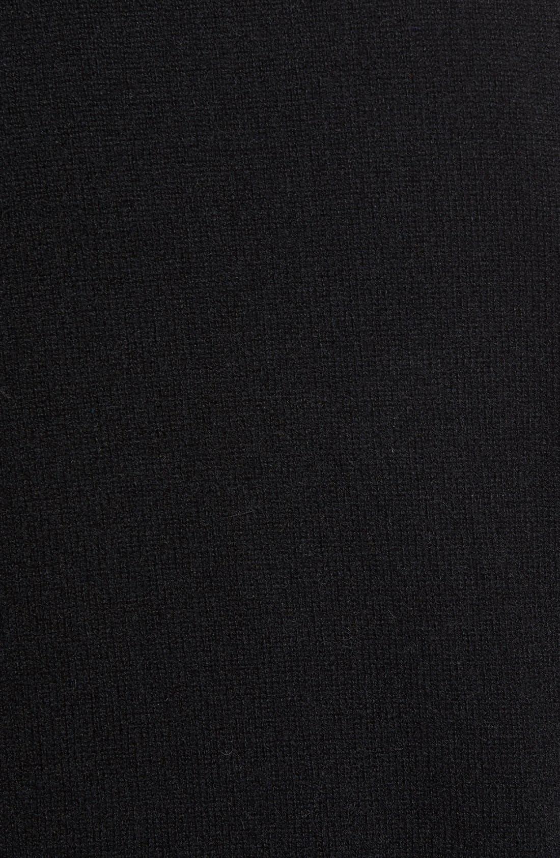 Cashmere V-Neck Sweater Vest,                             Alternate thumbnail 8, color,                             BLACK CAVIAR