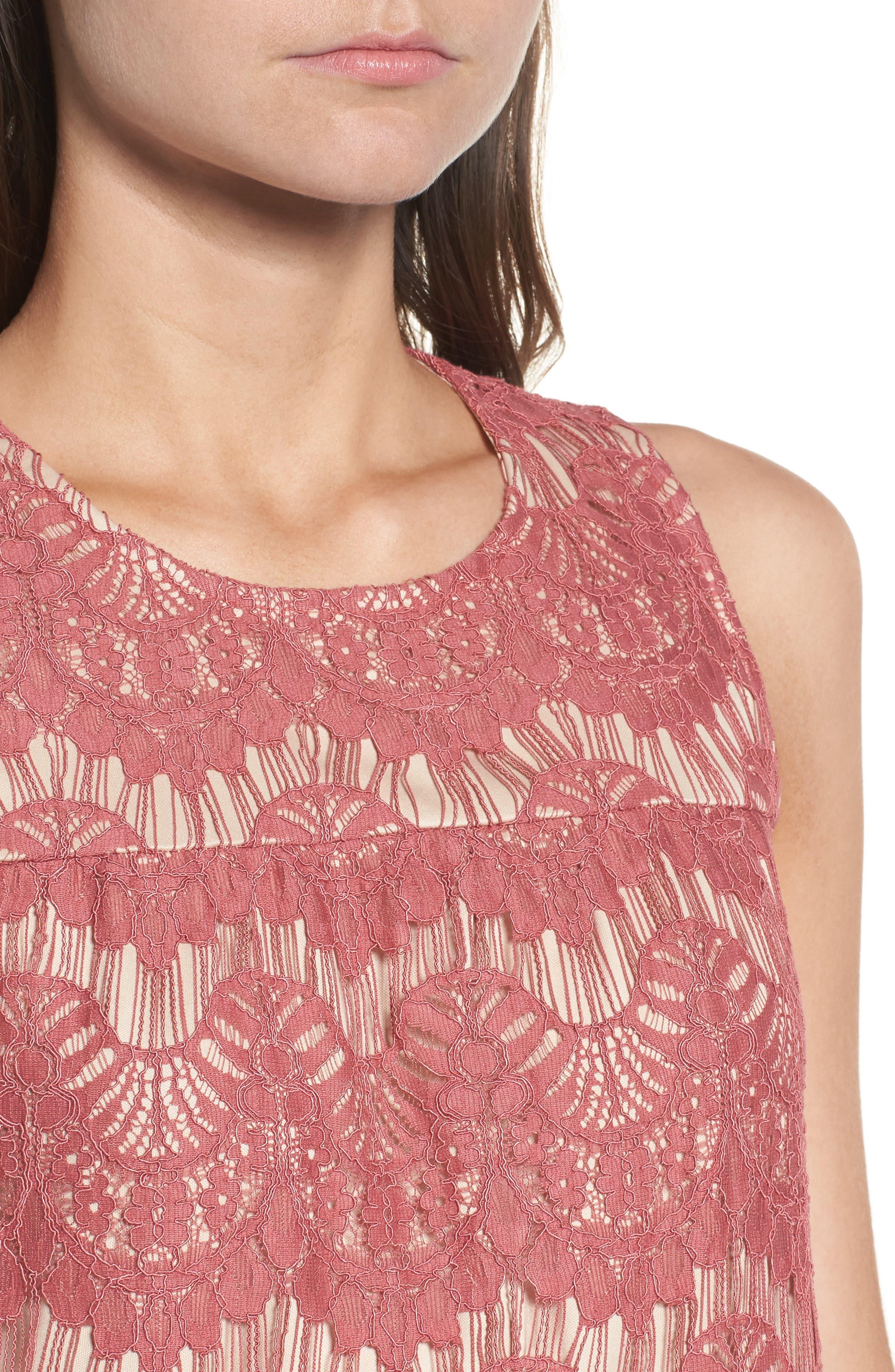 Lace Shift Dress,                             Alternate thumbnail 4, color,                             650