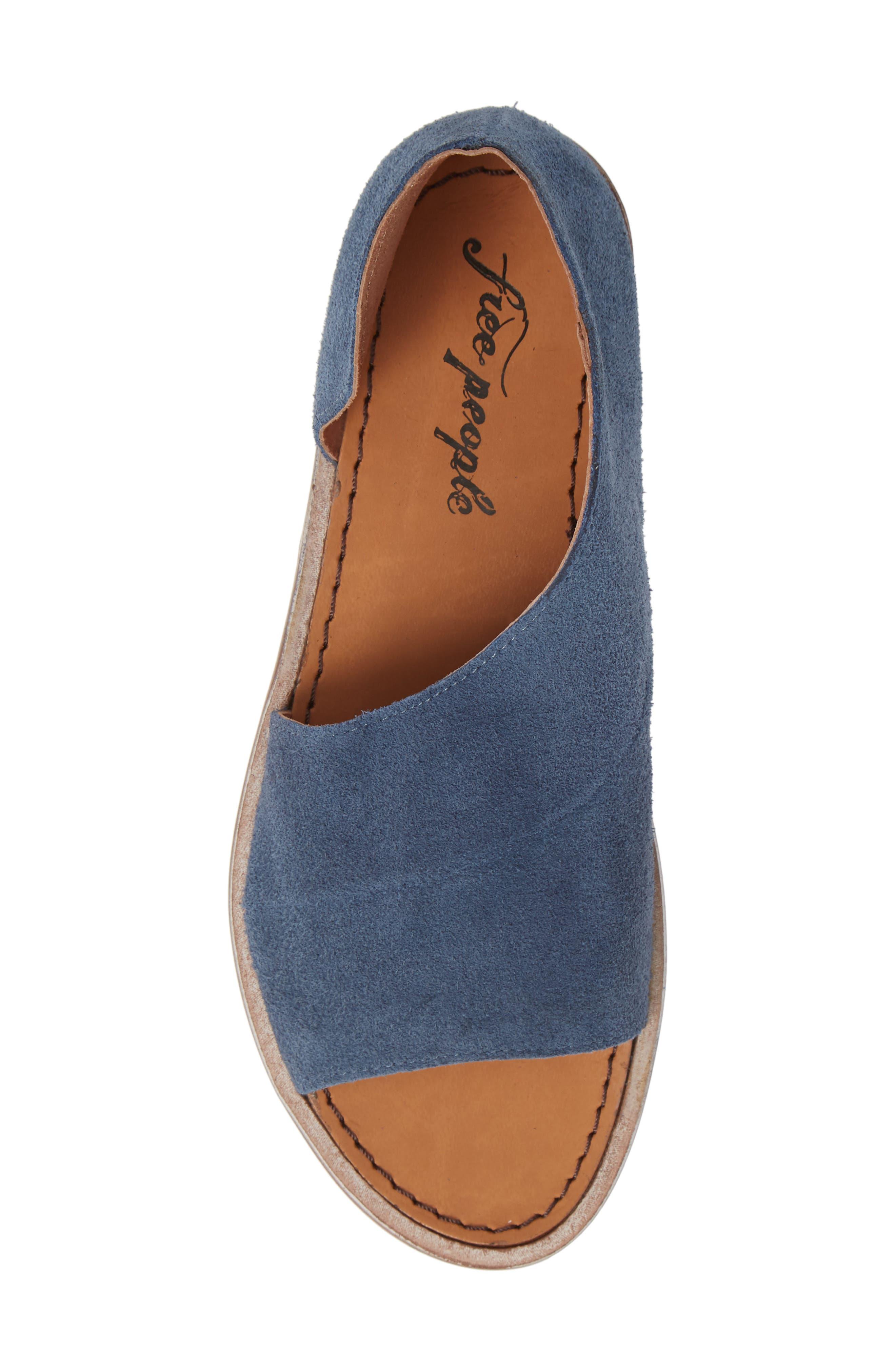 'Mont Blanc' Asymmetrical Sandal,                             Alternate thumbnail 5, color,                             BLUE SUEDE