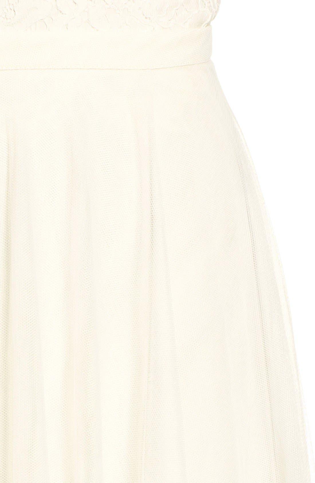 Winslow Long Tulle A-Line Skirt,                             Alternate thumbnail 5, color,                             104
