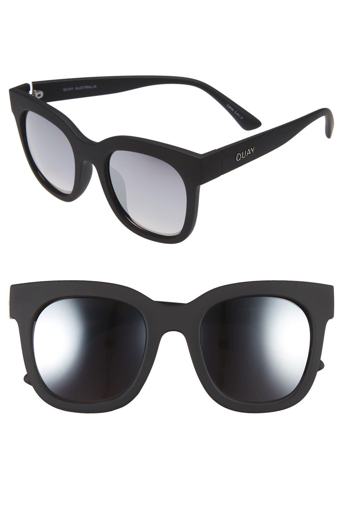 'Sagano' 50mm Square Sunglasses,                             Main thumbnail 1, color,