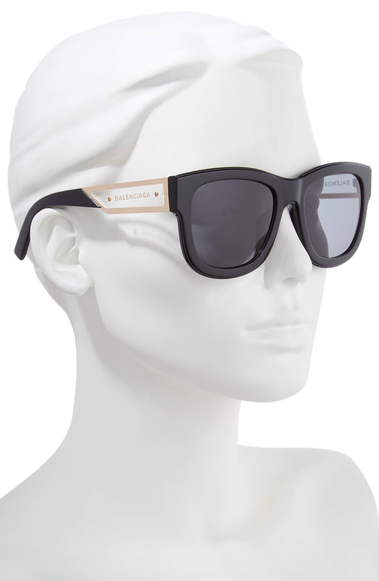 BALENCIAGA,                             56mm Cat Eye Sunglasses,                             Alternate thumbnail 2, color,                             018