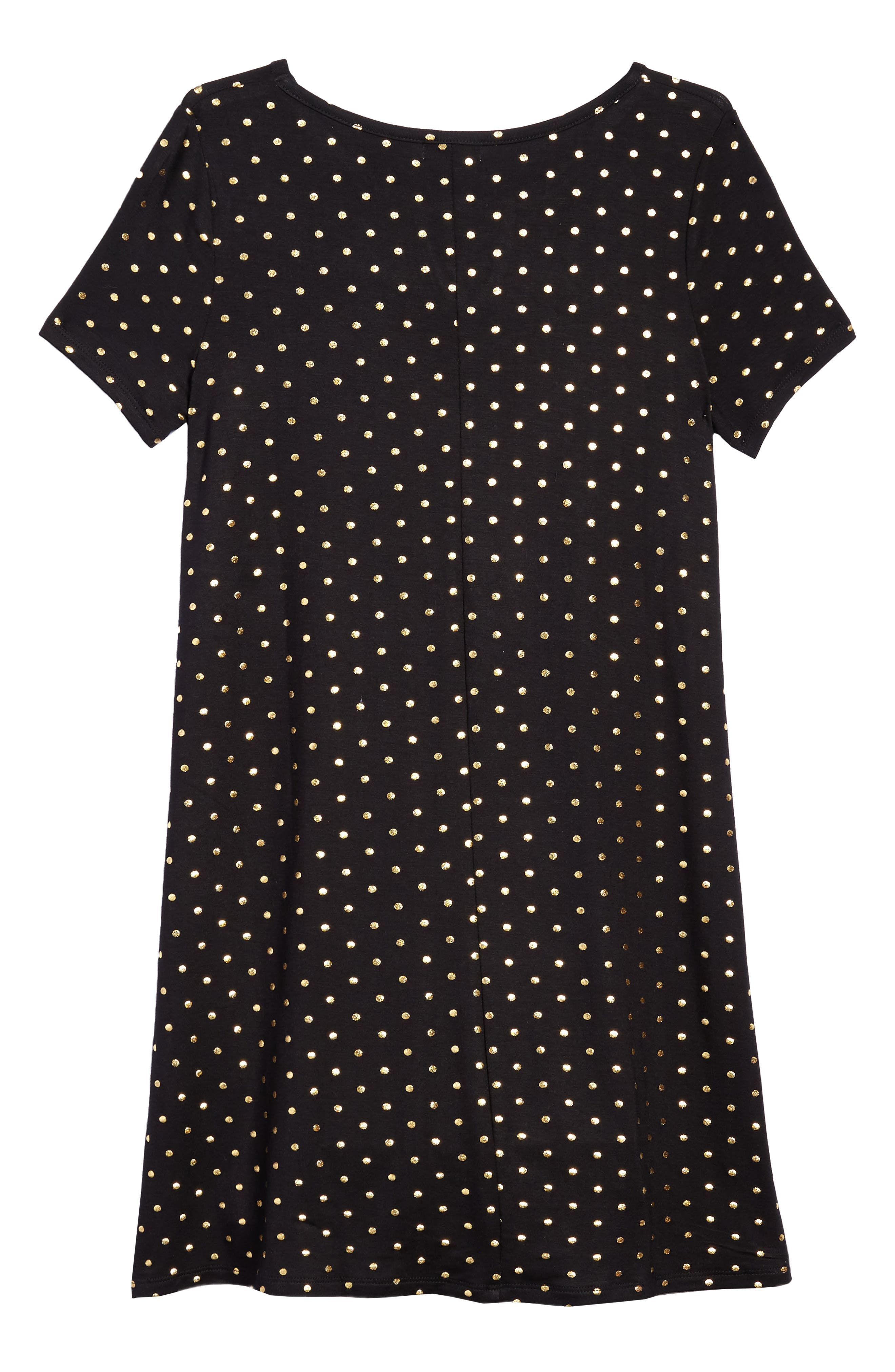 Foil Polka Dot Jersey Dress,                             Alternate thumbnail 2, color,                             005