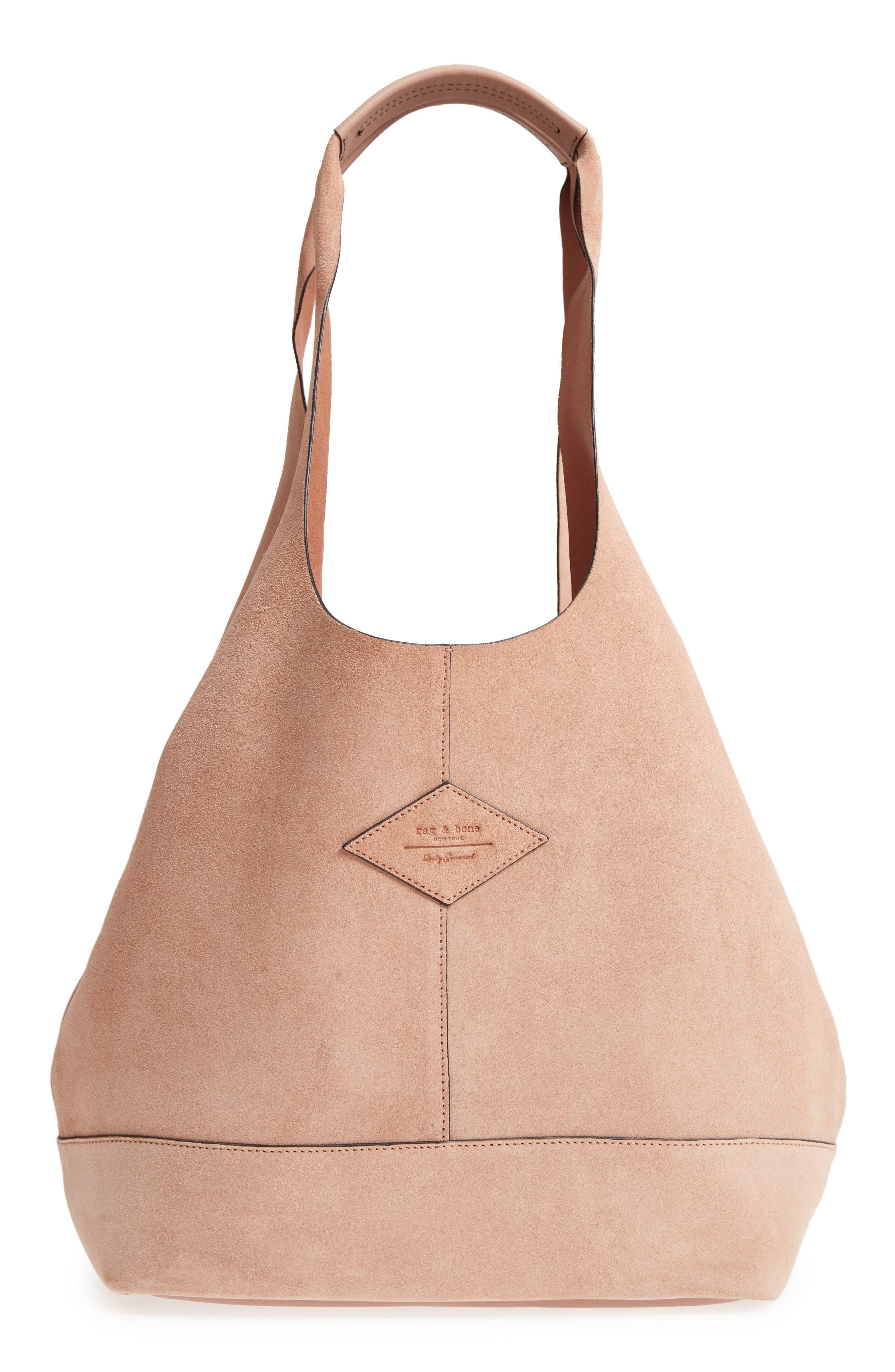 Camden Shopper Bag,                             Main thumbnail 1, color,                             NUDE SUEDE