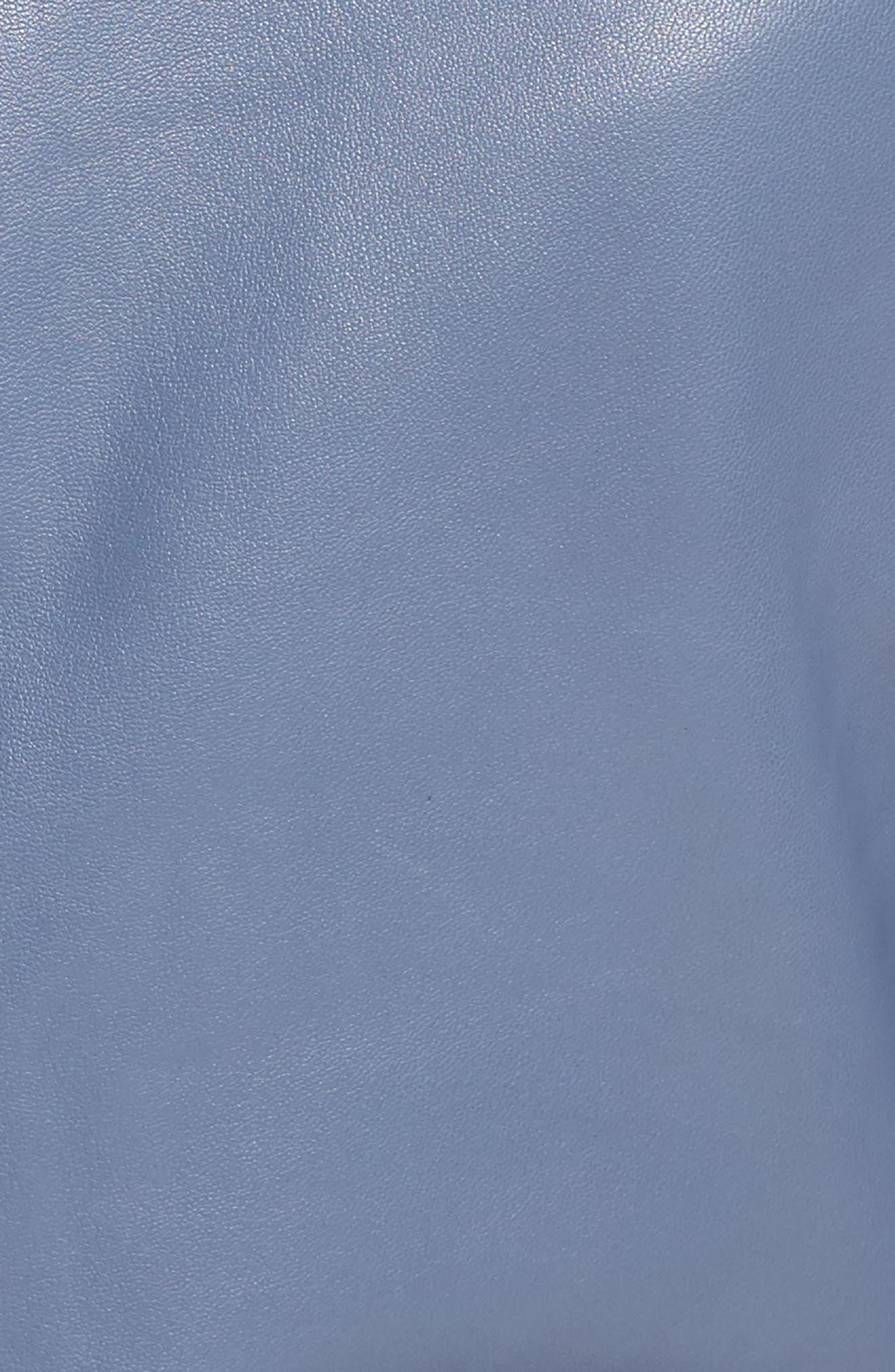 Leather Jacket,                             Alternate thumbnail 6, color,                             030