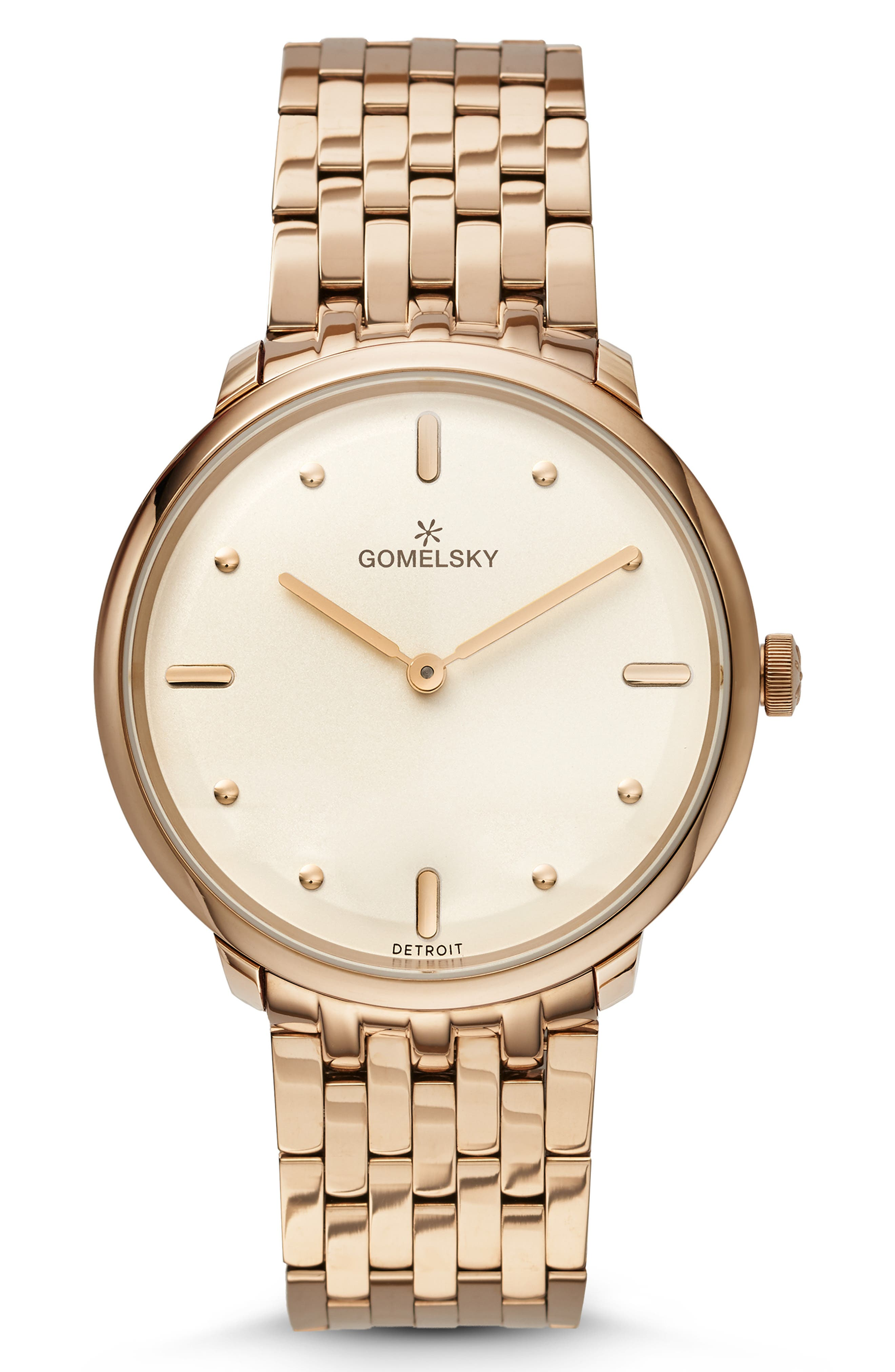 GOMELSKY The Lois Bracelet Watch, 36Mm in Champagne/ Cream/ Champagne