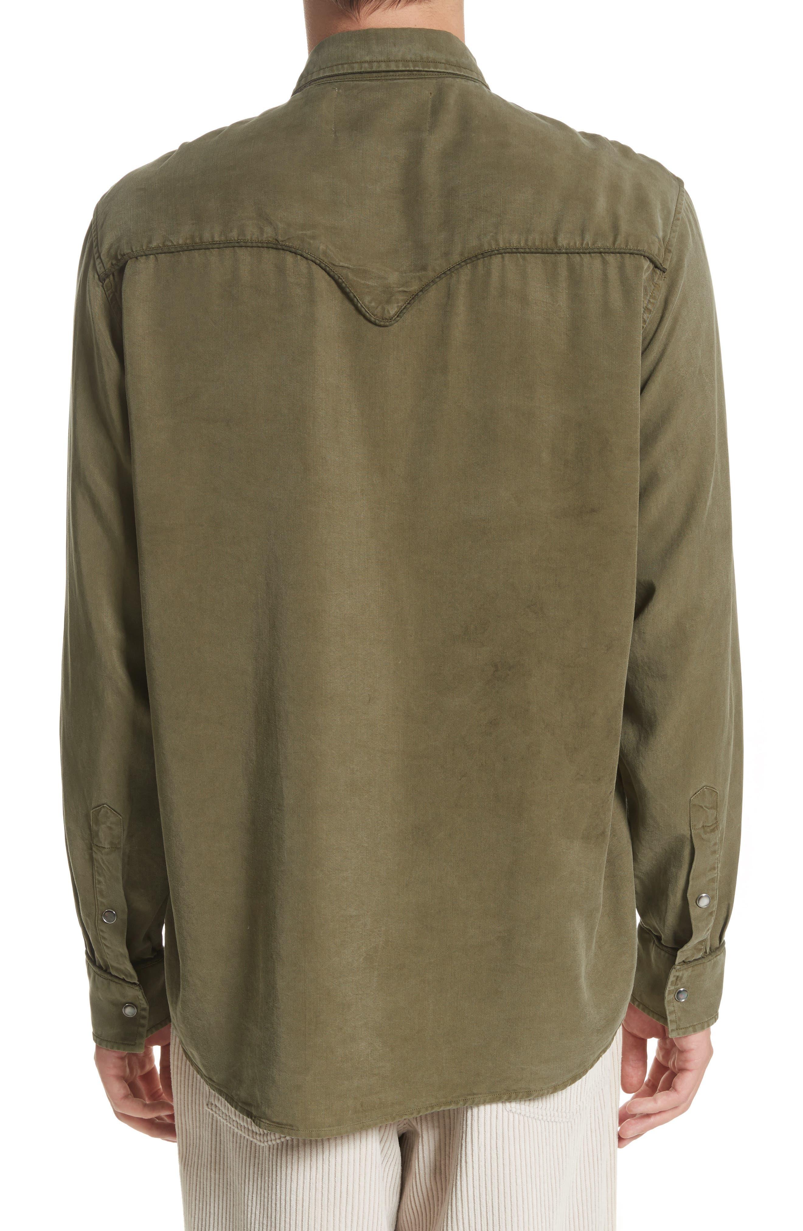 Lyocell Western Shirt,                             Alternate thumbnail 2, color,                             300