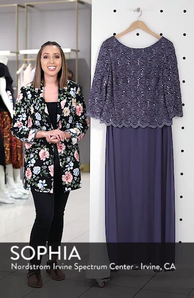 Lace & Chiffon Gown, sales video thumbnail
