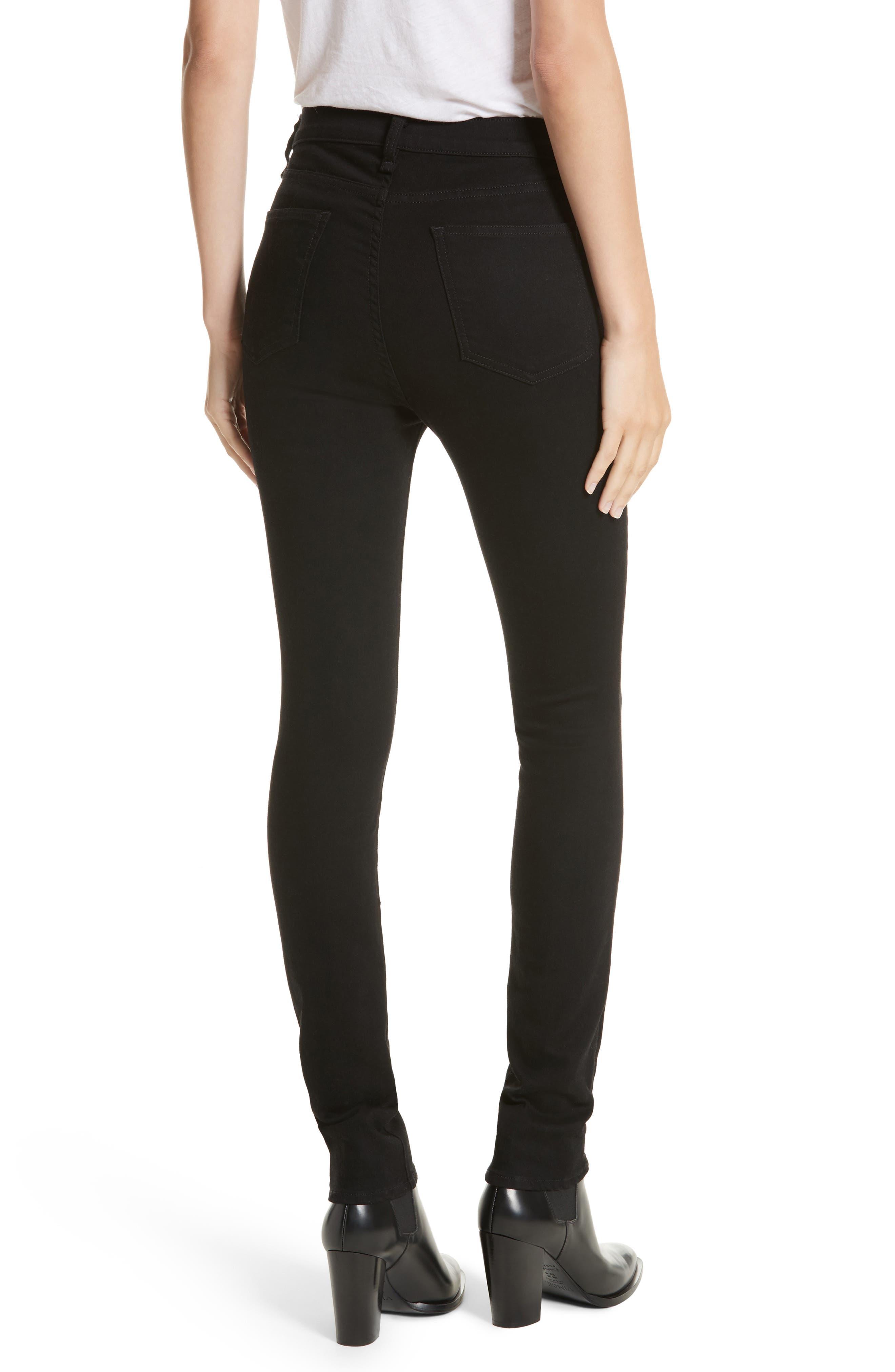 Kate 10 Skinny Jeans,                             Alternate thumbnail 2, color,                             RAVEN