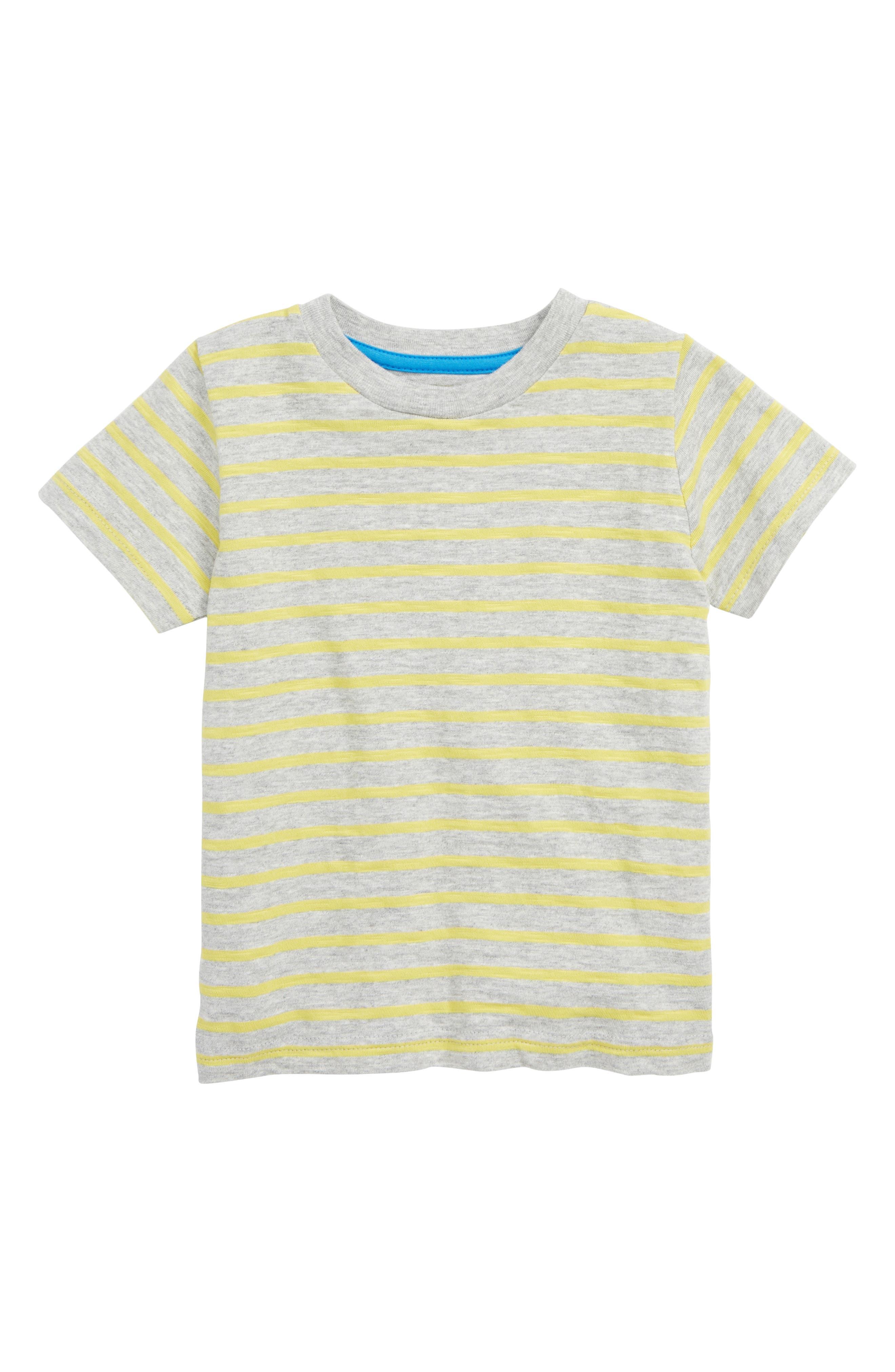 Boys Mini Boden Stripe Slub Knit TShirt Size 56Y  Orange