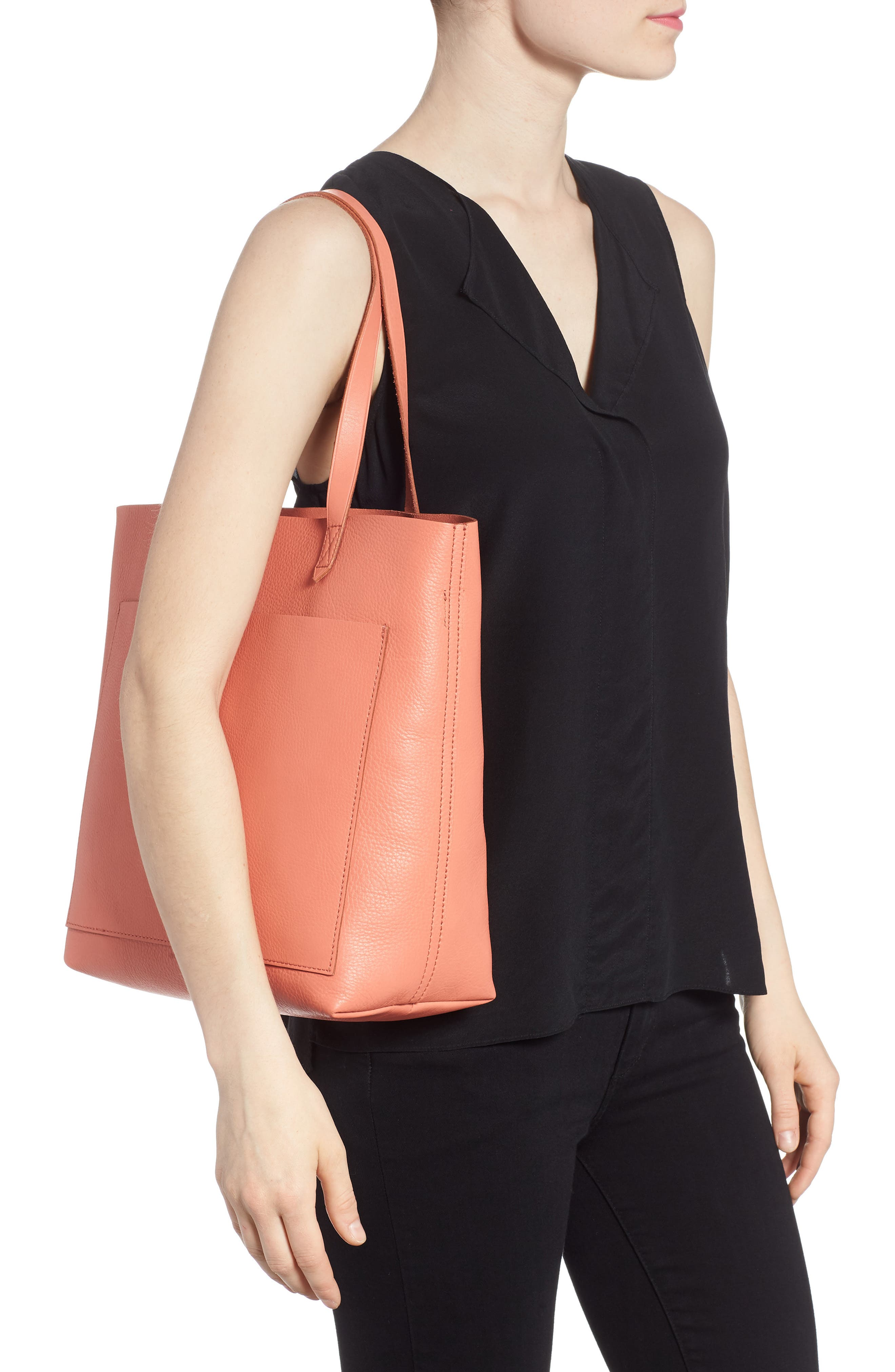 Medium Leather Transport Tote,                             Alternate thumbnail 25, color,
