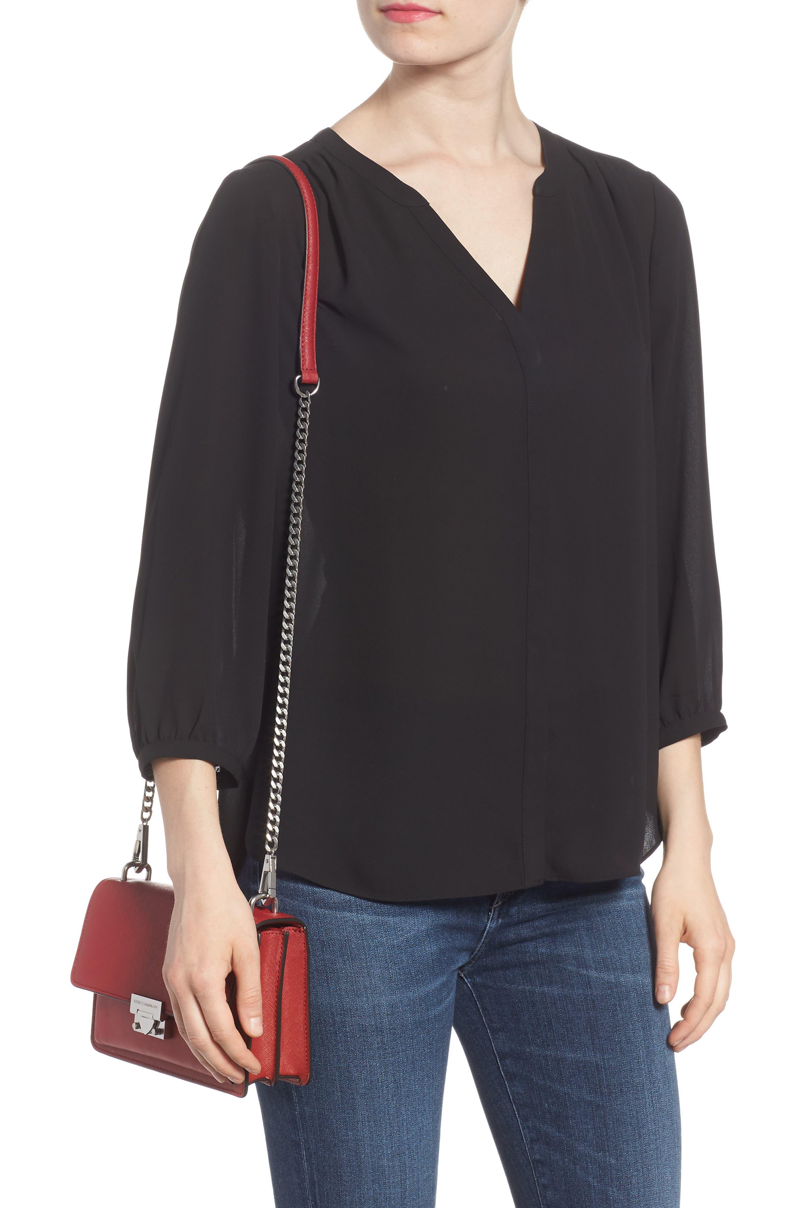 Medium Christy Leather Shoulder Bag,                             Alternate thumbnail 9, color,