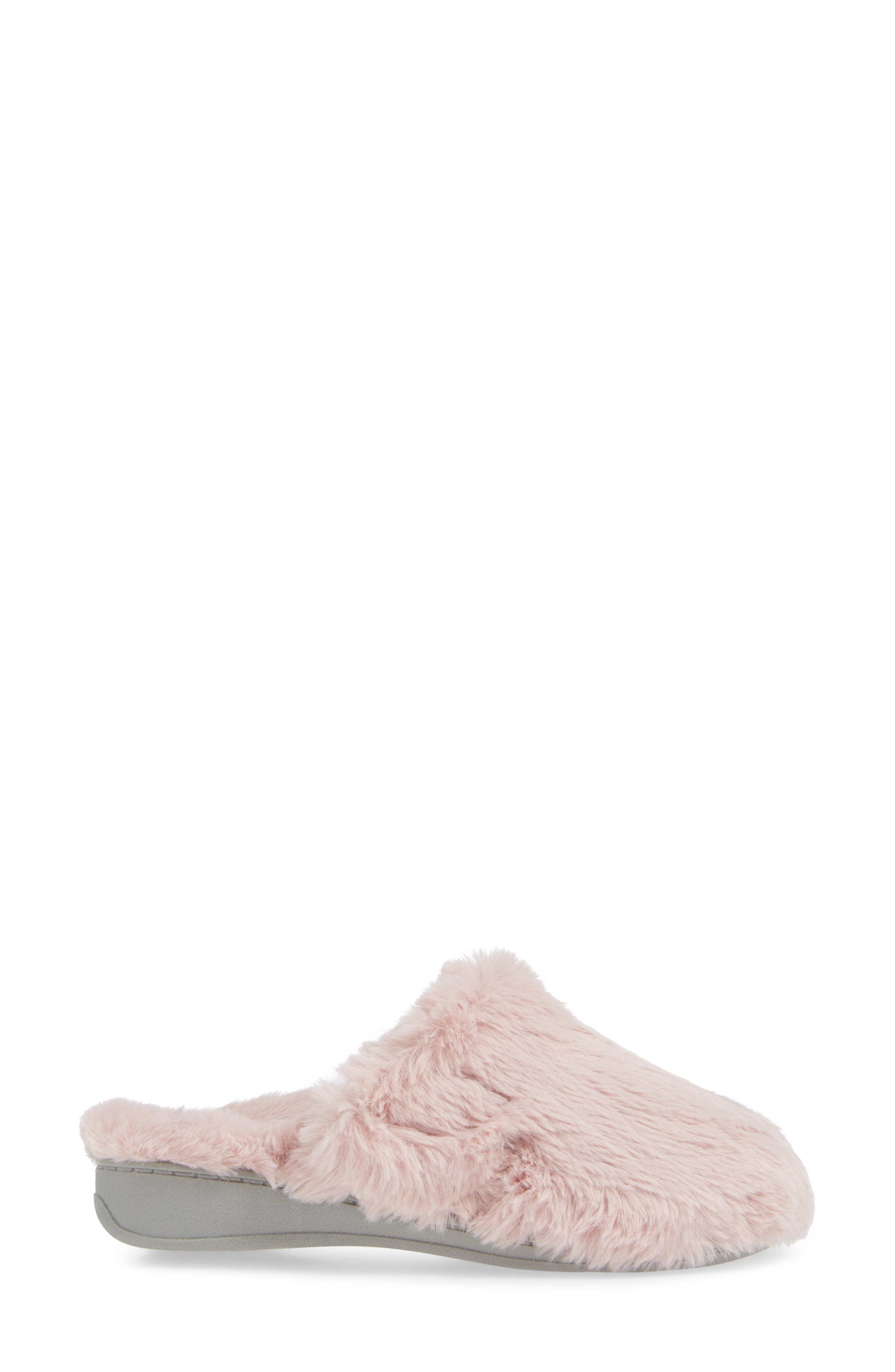 Gemma Plush Slipper,                             Alternate thumbnail 3, color,                             BLUSH