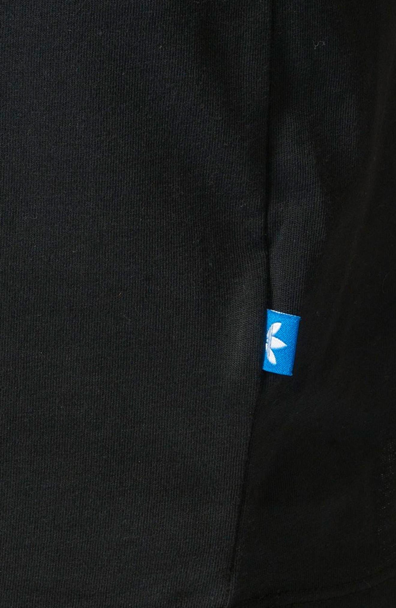 Trefoil Logo T-Shirt Dress,                             Alternate thumbnail 7, color,                             001