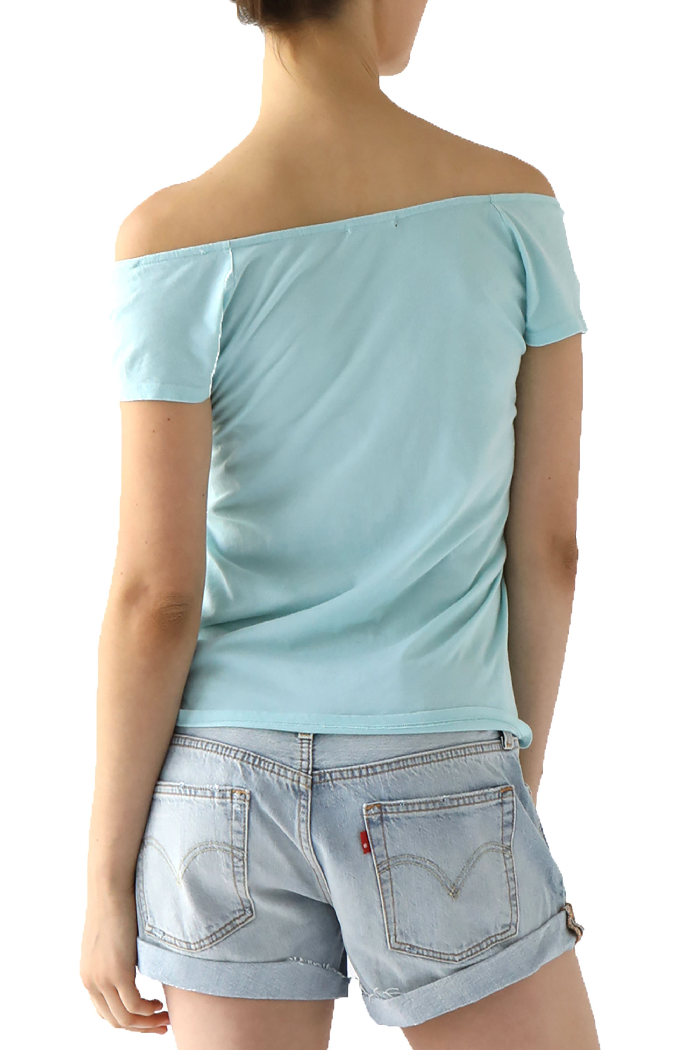 Imelda Tissue Jersey Off the Shoulder Tee,                             Alternate thumbnail 9, color,