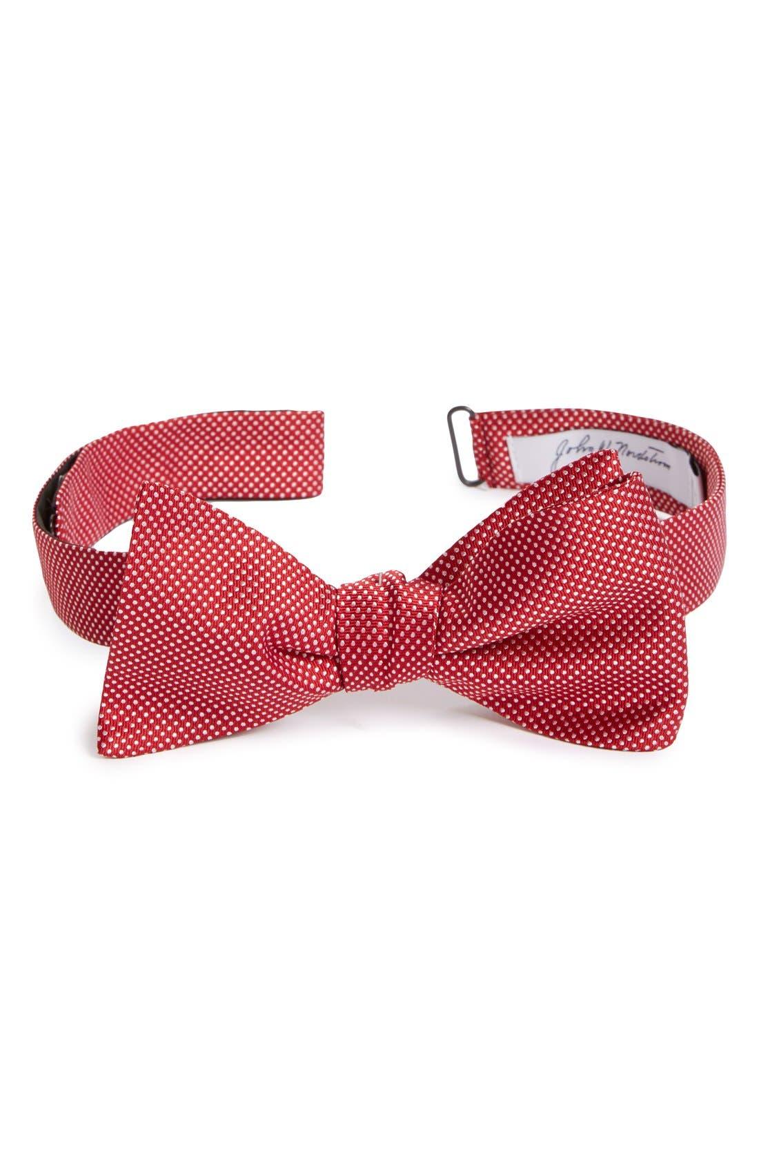 Dot Silk Bow Tie,                             Main thumbnail 8, color,