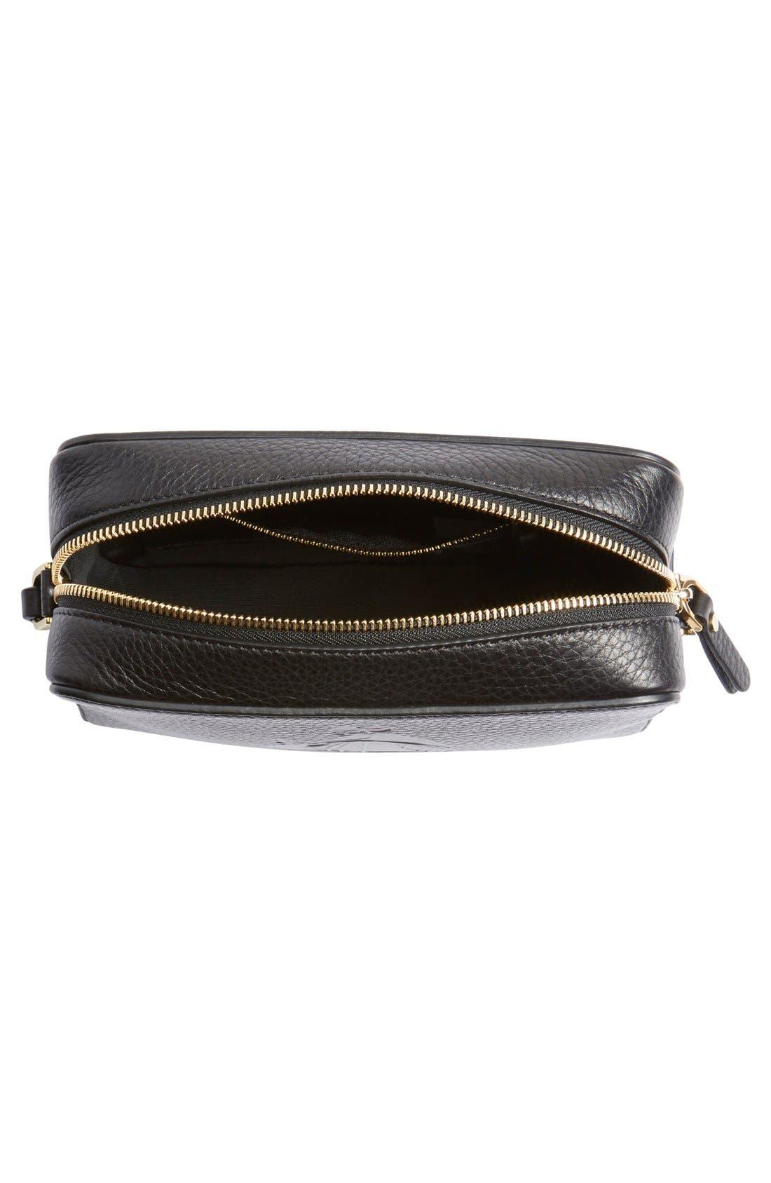 'Nomad' Leather Camera Bag,                             Alternate thumbnail 5, color,                             001