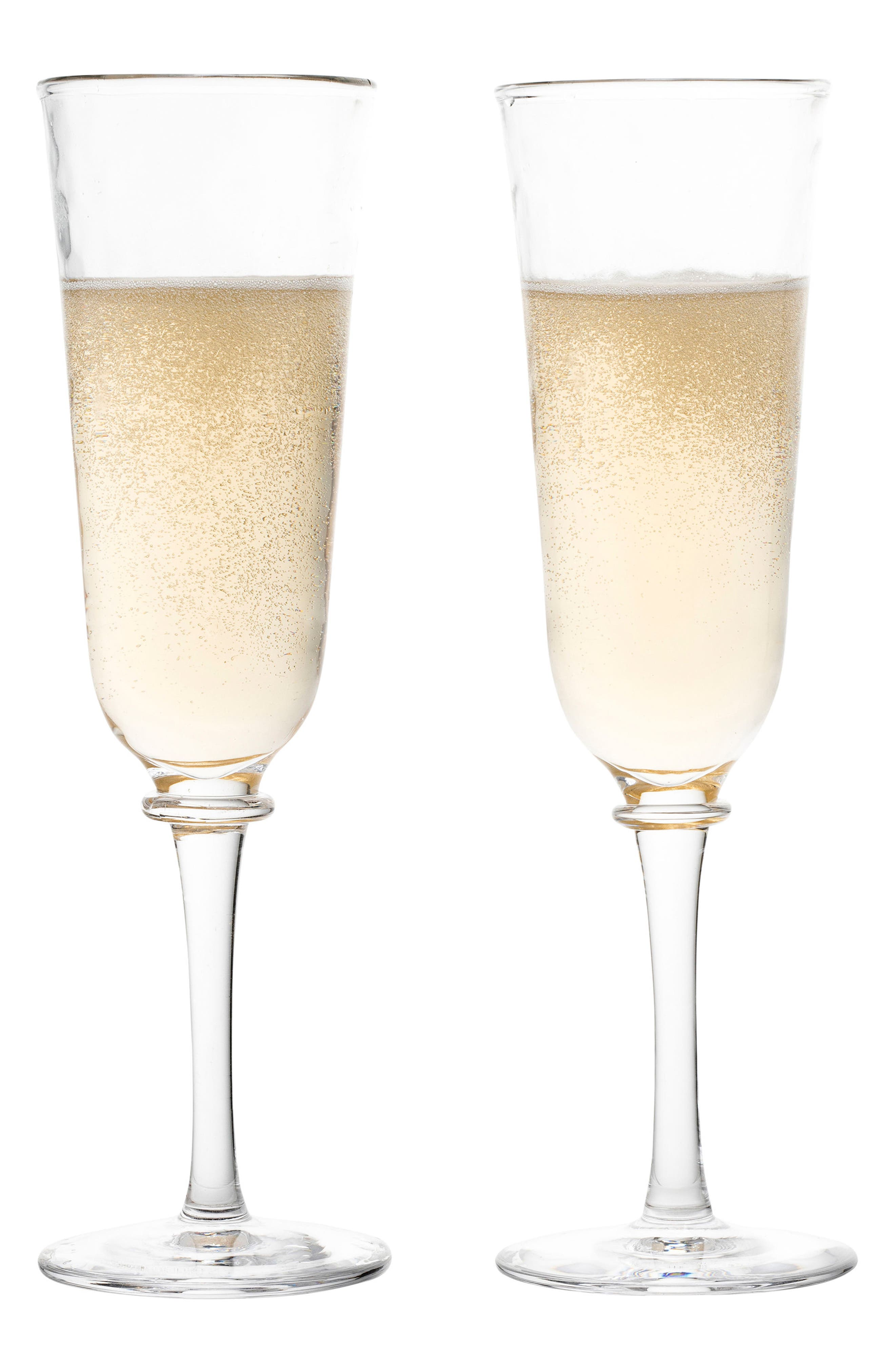 Carine Set of 2 Champagne Flutes,                             Alternate thumbnail 2, color,                             CLEAR