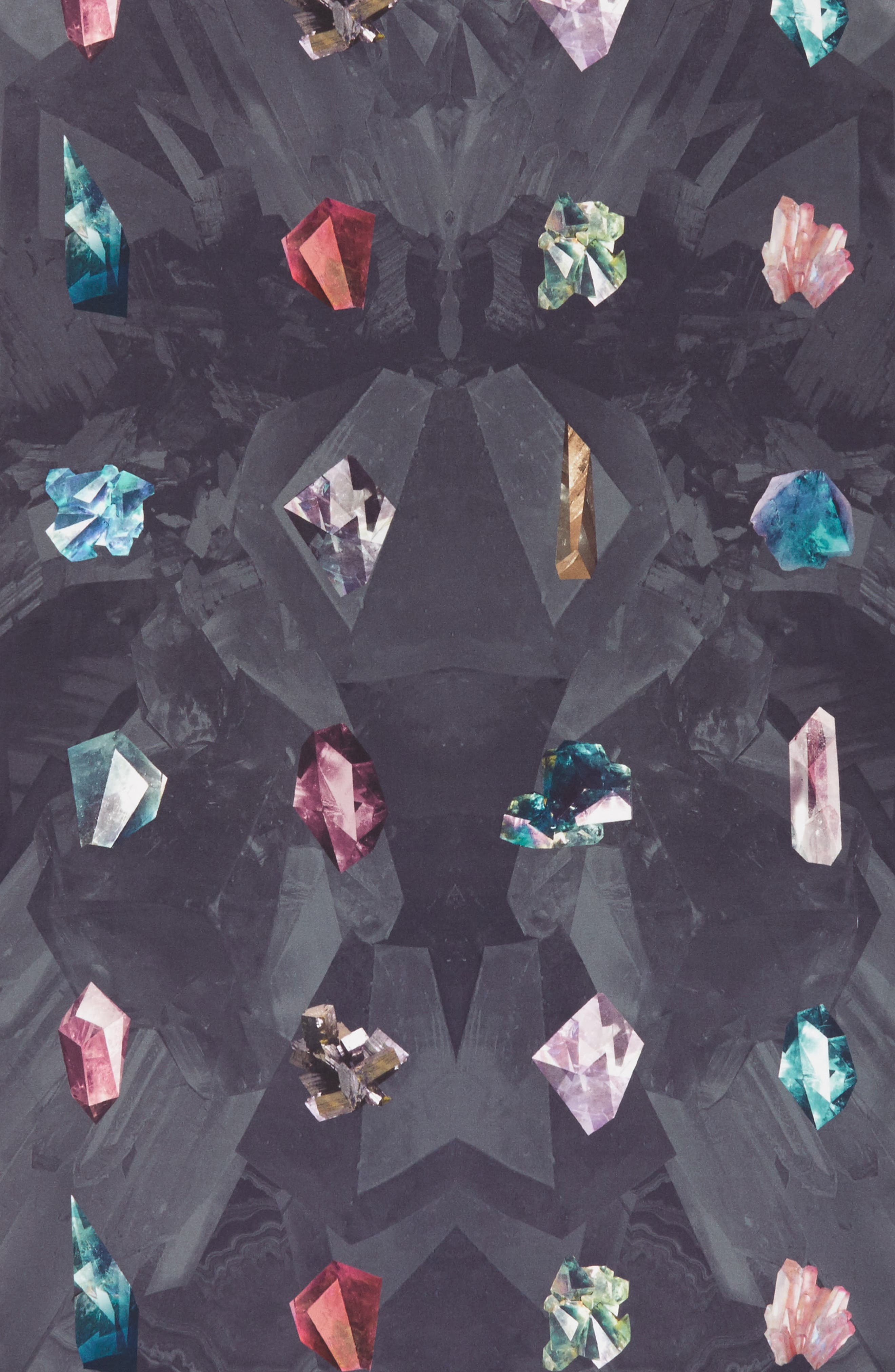 Mirrored Minerals Long Silk Scarf,                             Alternate thumbnail 4, color,                             021
