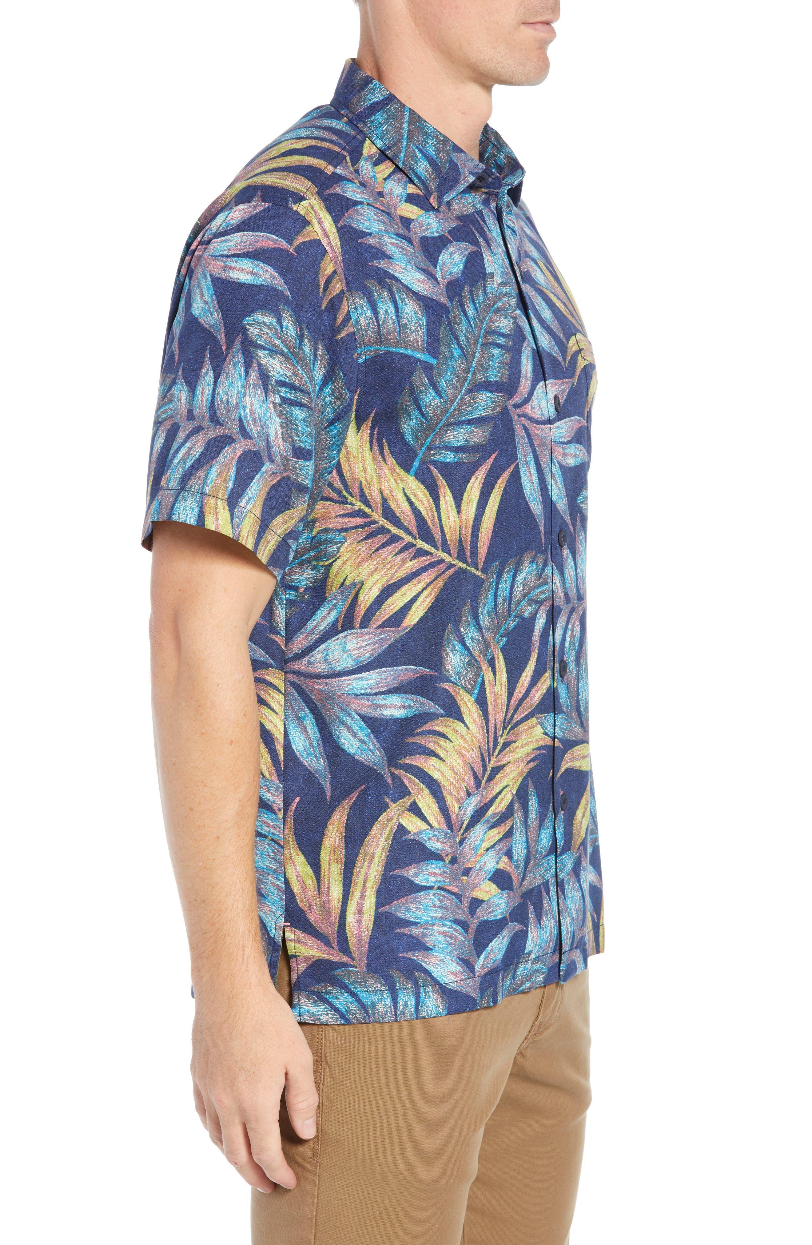 Parque Palms Sport Shirt,                             Alternate thumbnail 4, color,                             RIVIERA AZURE