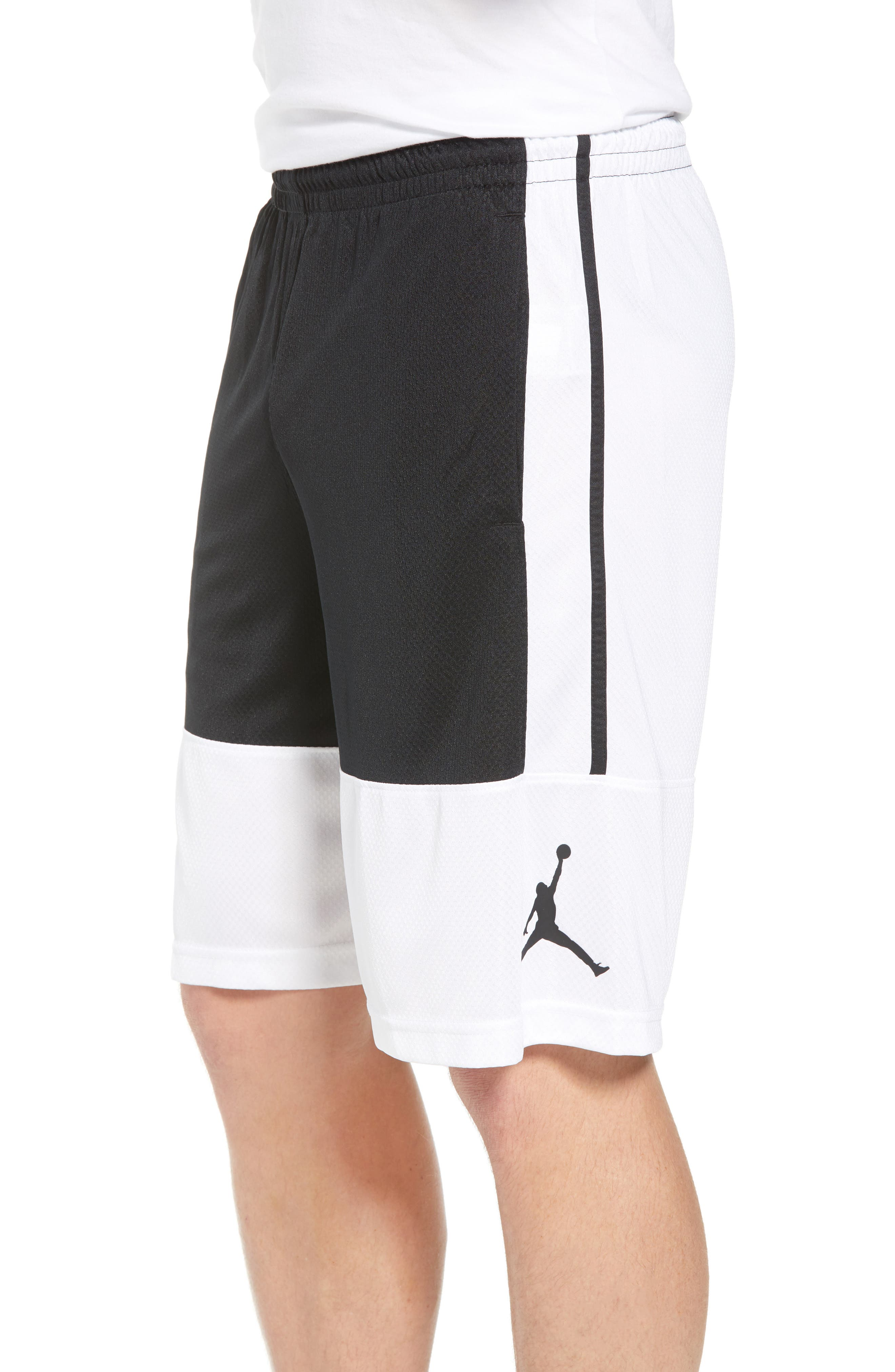 Rise Shorts,                             Alternate thumbnail 3, color,                             WHITE/ BLACK/ BLACK