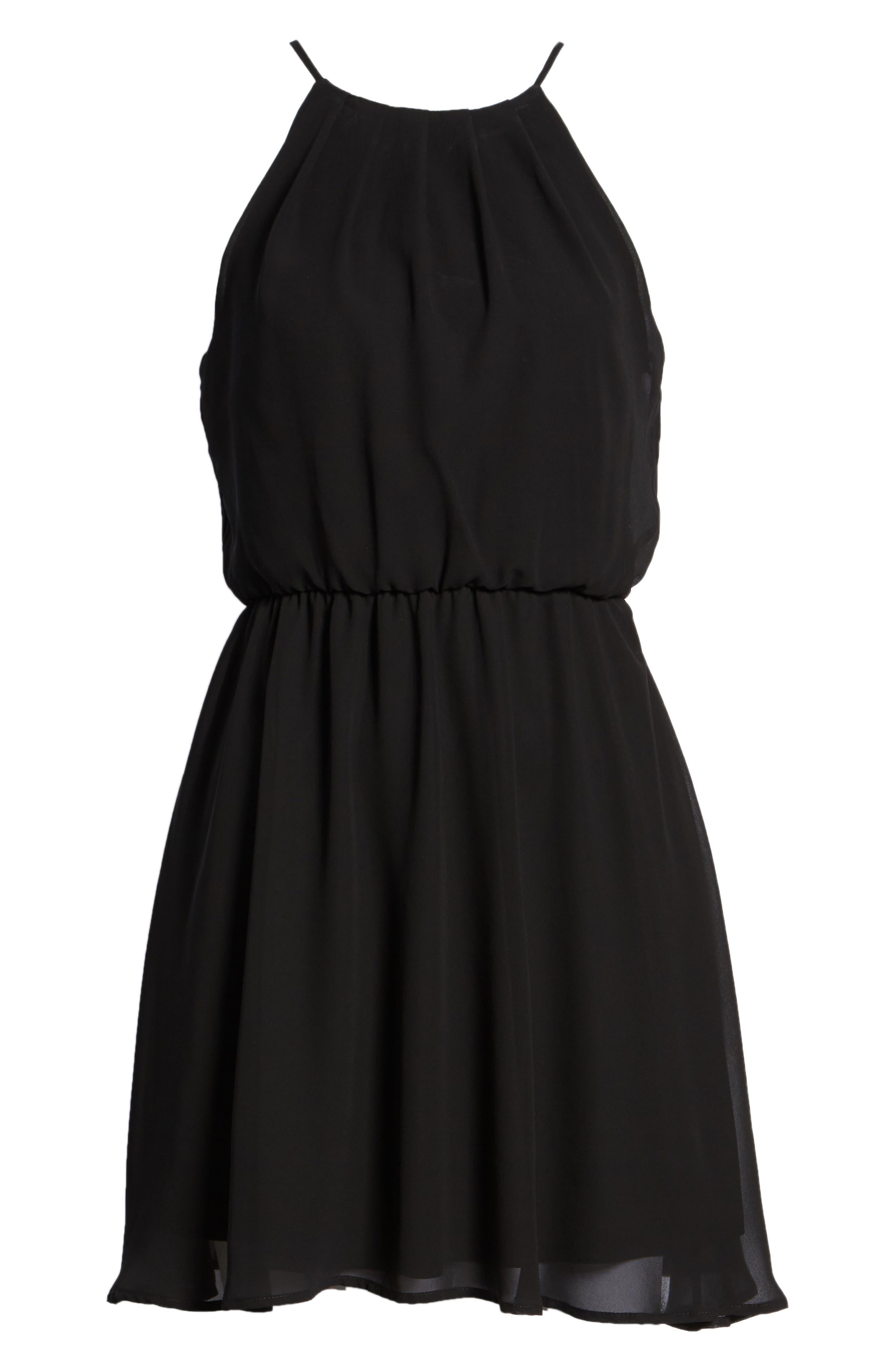 Blouson Chiffon Skater Dress,                             Alternate thumbnail 245, color,